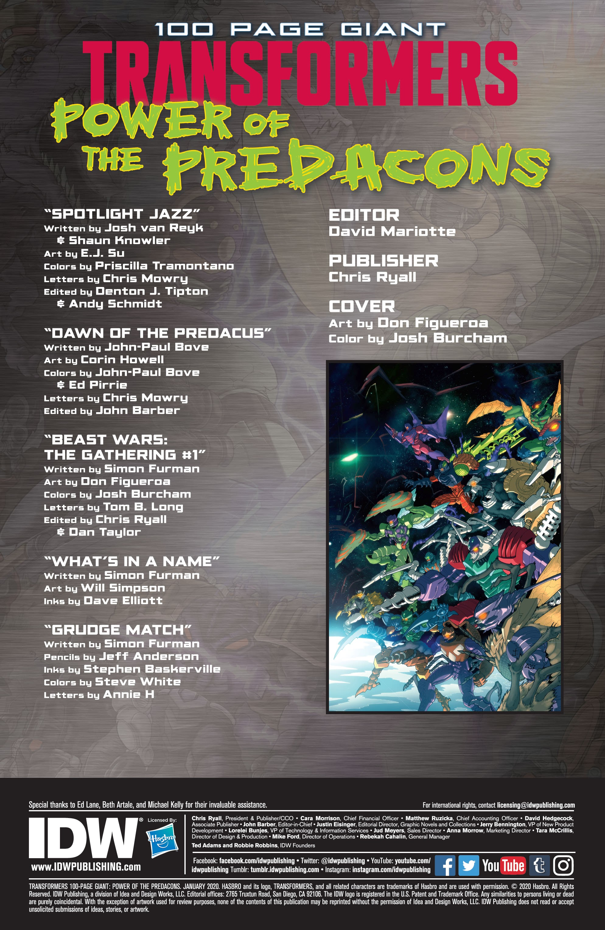 Transformers 100-Page Giant: Power of the Predacons TPB Page 2