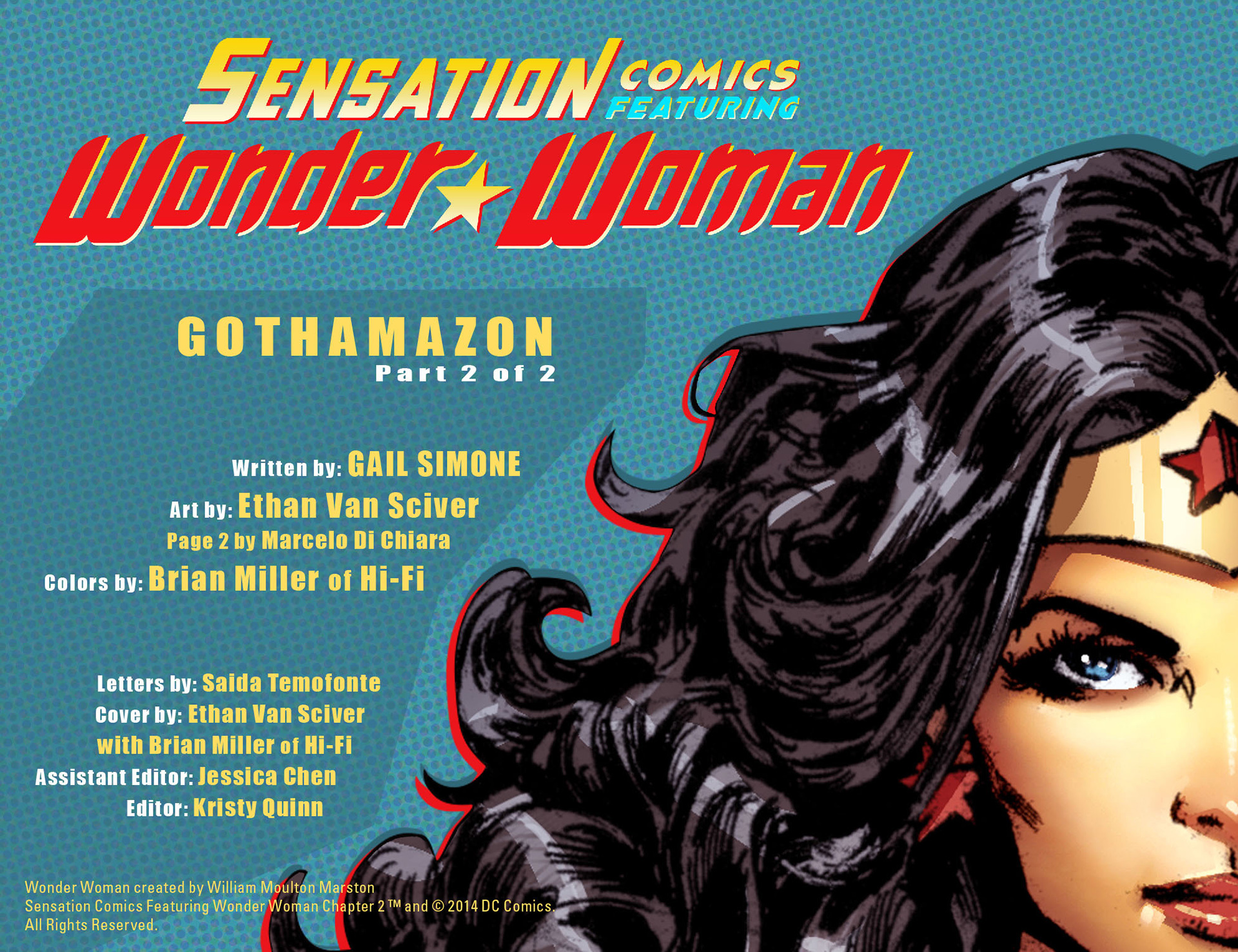 Read online Sensation Comics Featuring Wonder Woman comic -  Issue #2 - 2