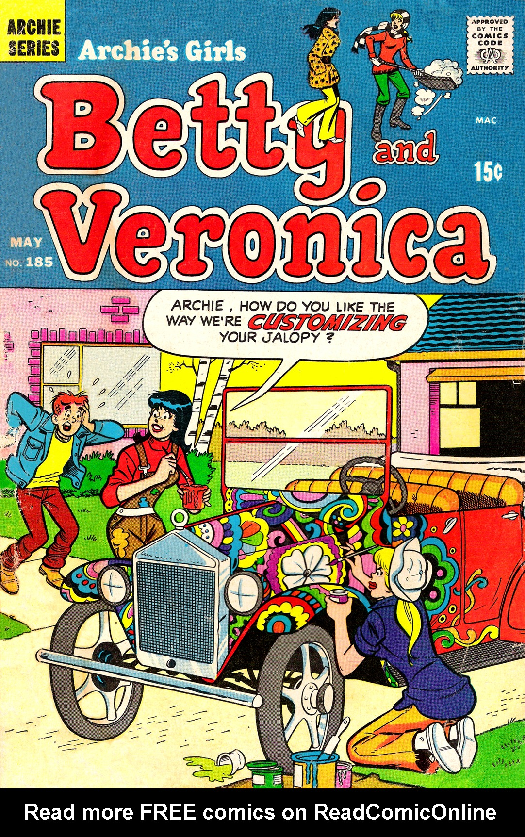 Read online Archie's Girls Betty and Veronica comic -  Issue #185 - 1