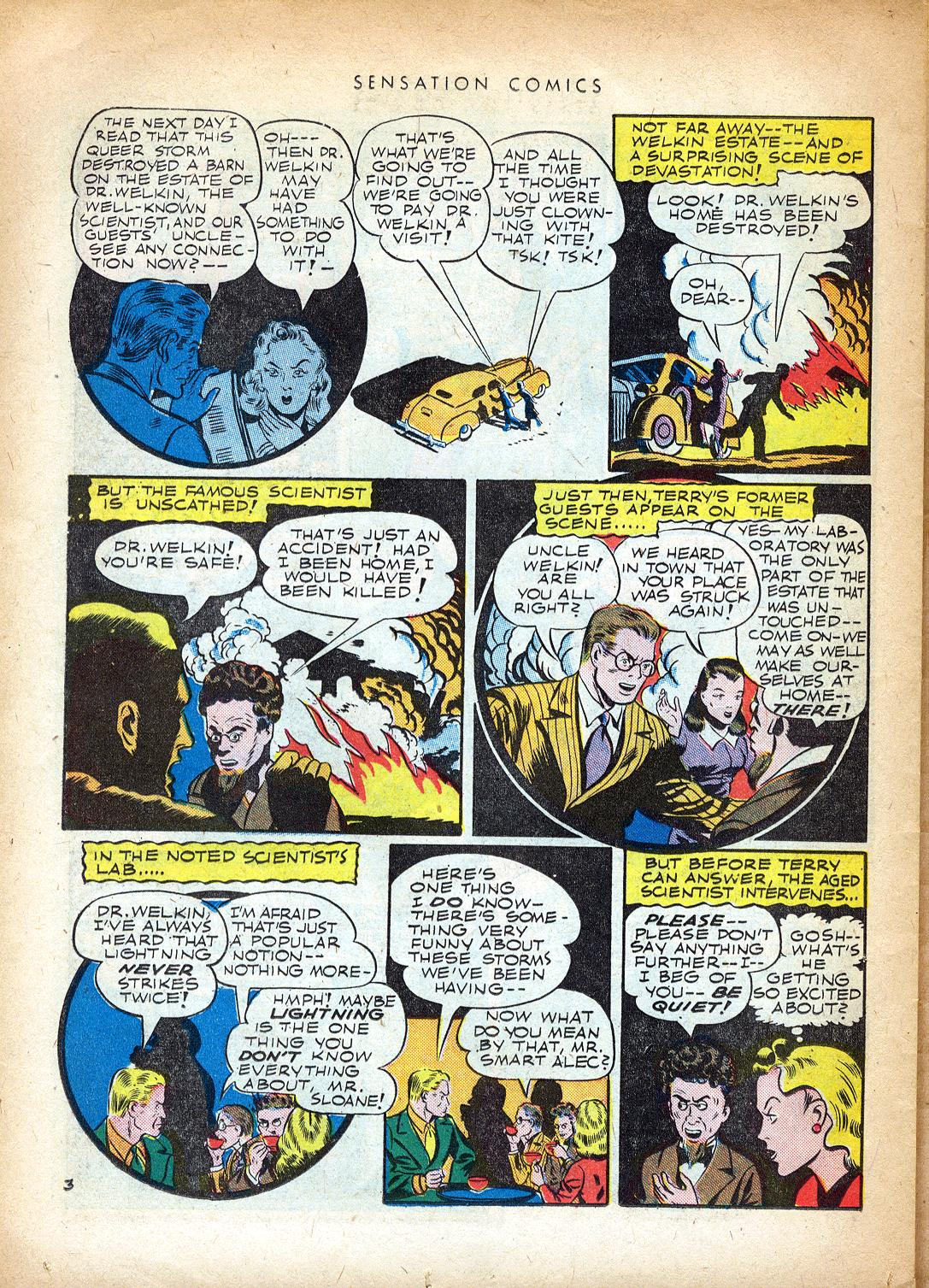 Read online Sensation (Mystery) Comics comic -  Issue #37 - 36