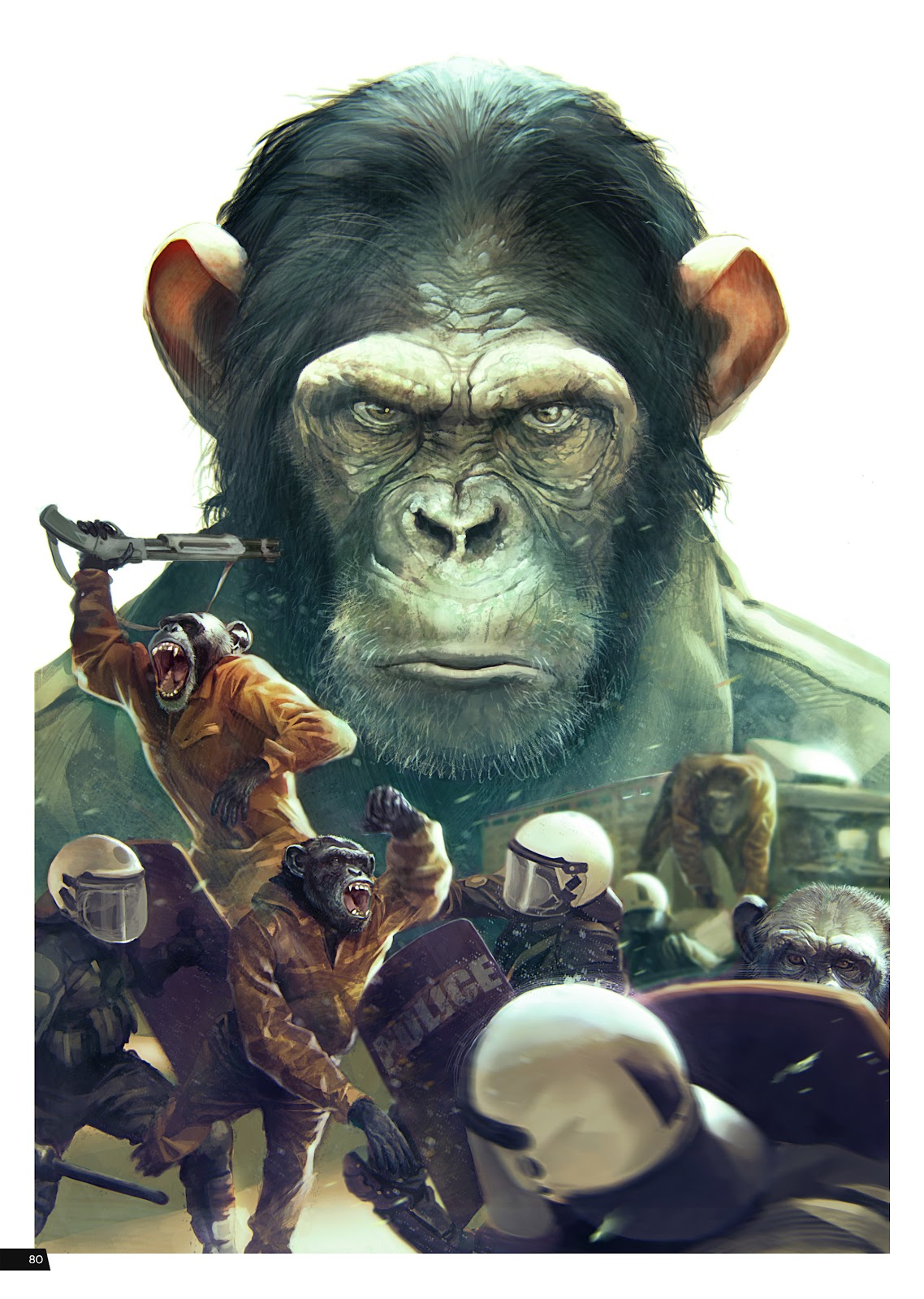 Read online Planet of the Apes Artist Tribute comic -  Issue # TPB - 80