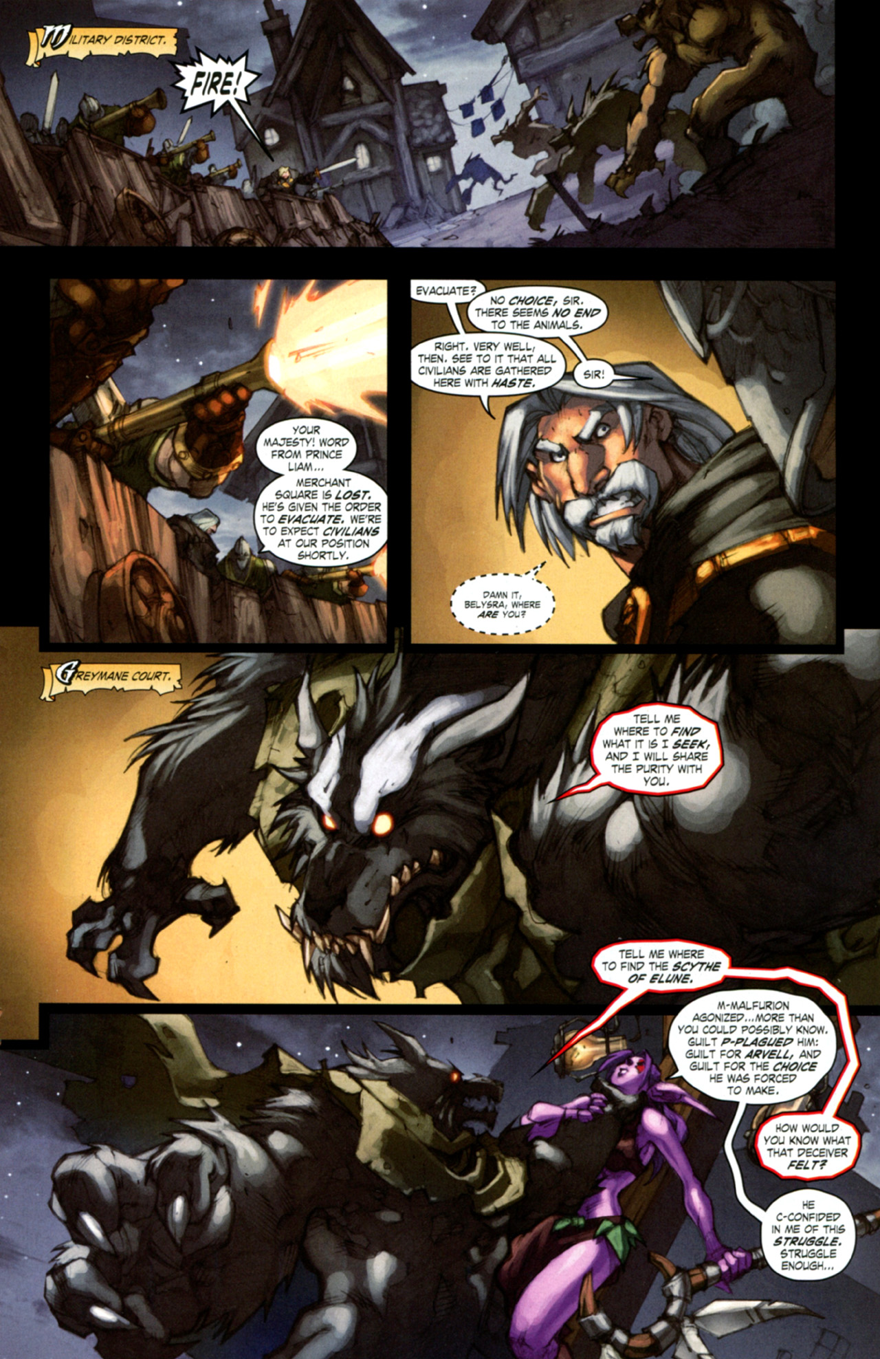 Read online World of Warcraft: Curse of the Worgen comic -  Issue #4 - 13