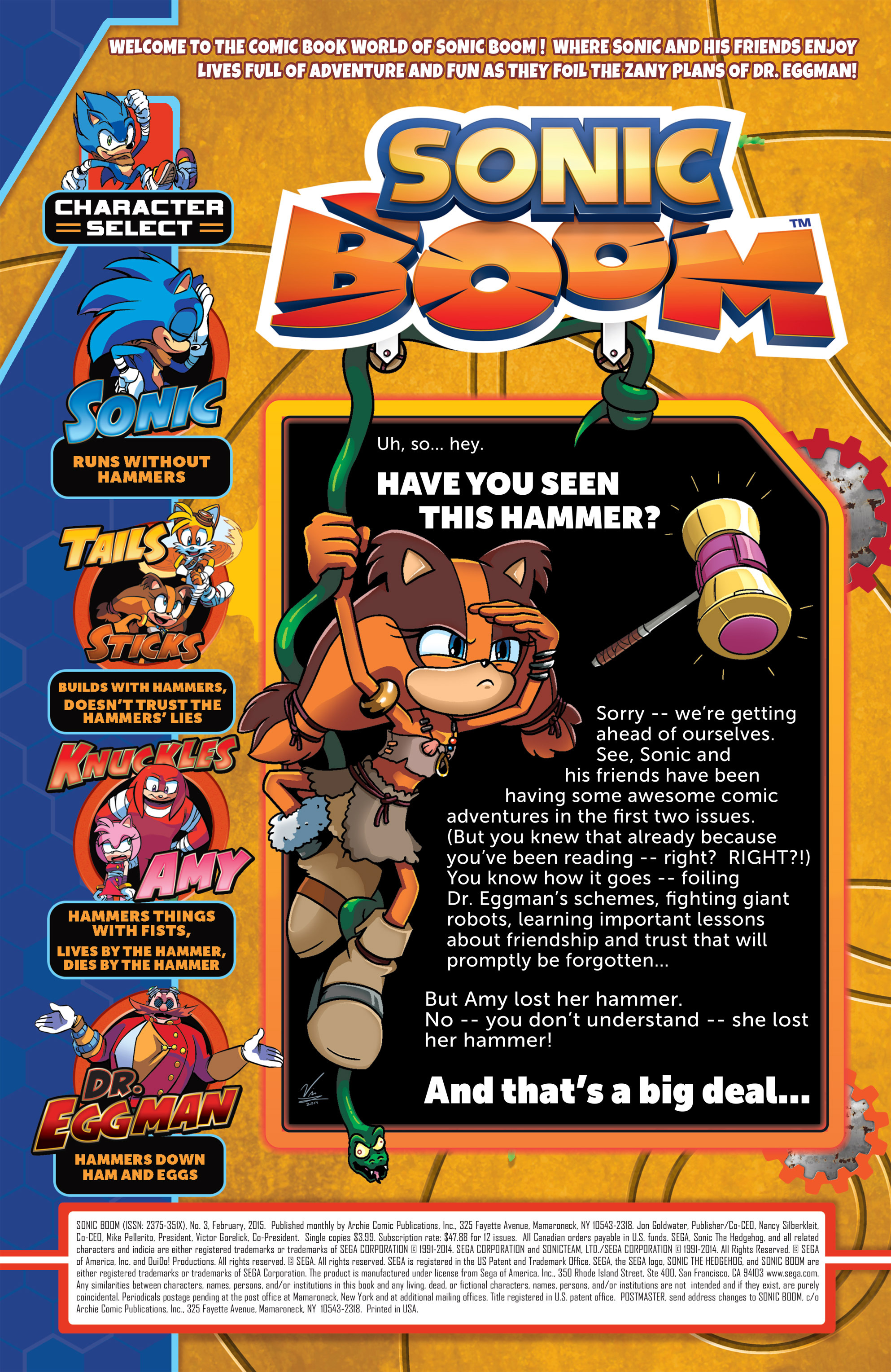 Read online Sonic Boom comic -  Issue #3 - 2