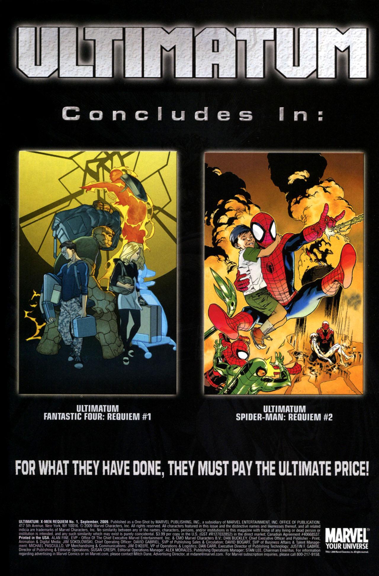 Read online Ultimatum: X-Men Requiem comic -  Issue # Full - 40
