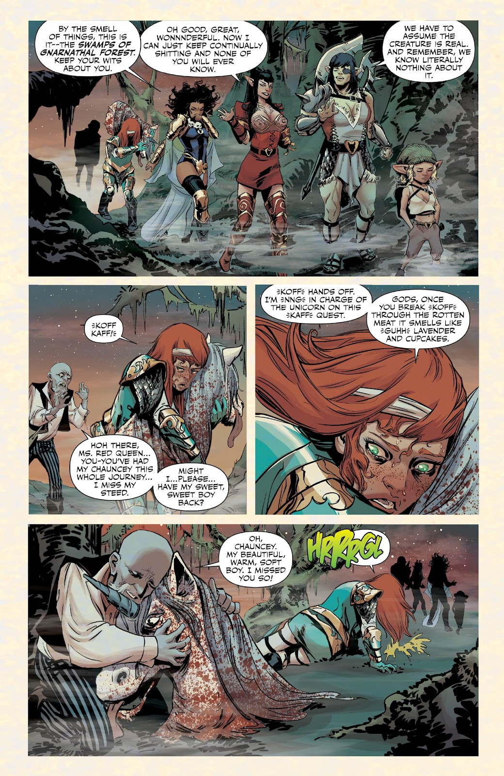 Read online Rat Queens Special: Swamp Romp comic -  Issue # Full - 8