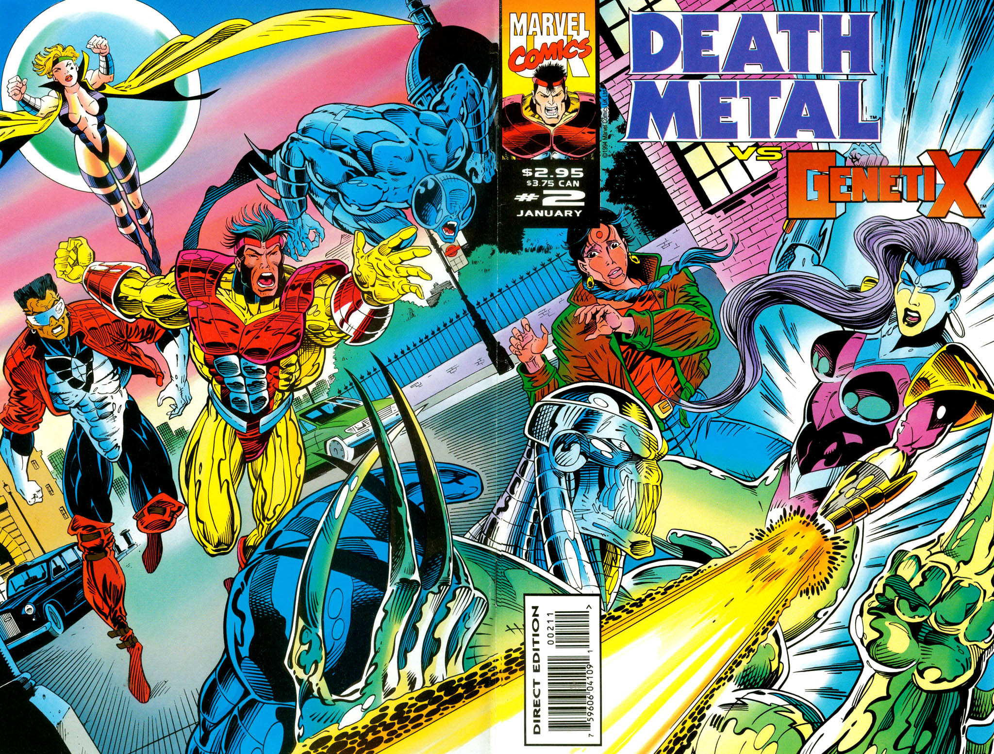 Read online Death Metal vs. Genetix comic -  Issue #2 - 1