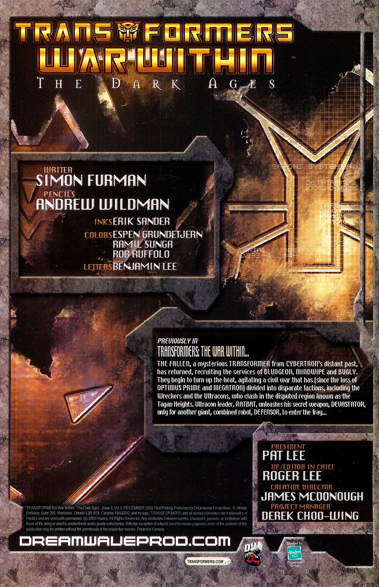 """Read online Transformers War Within: """"The Dark Ages"""" comic -  Issue #3 - 2"""