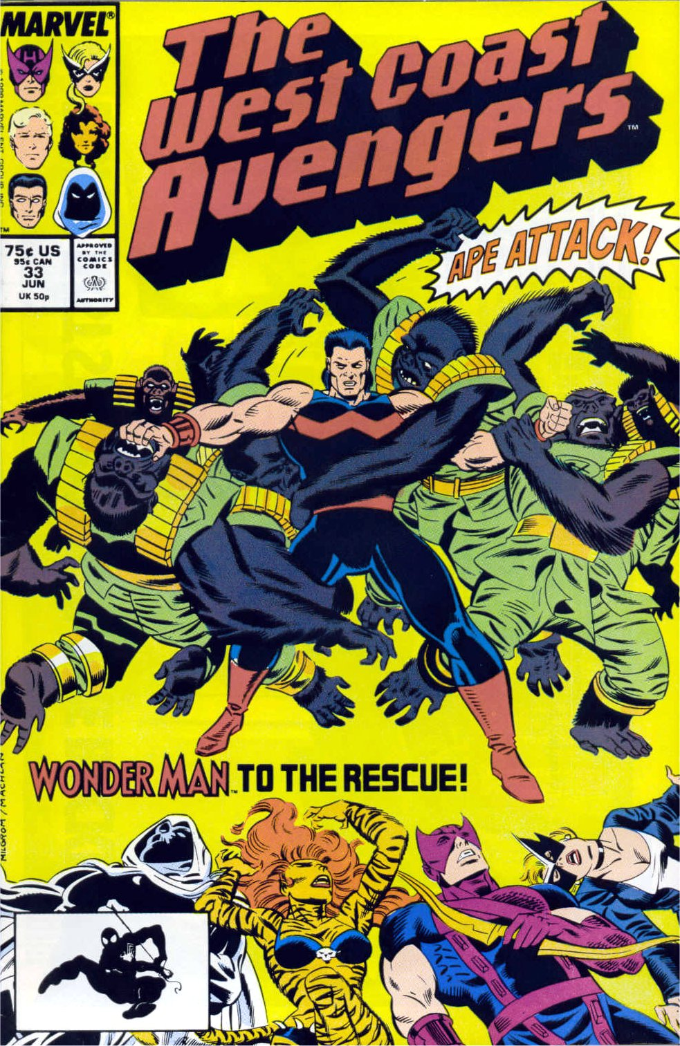 West Coast Avengers (1985) 33 Page 1
