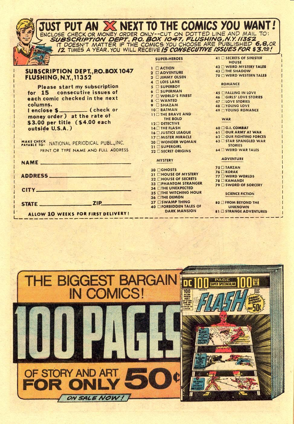 Read online Secret Origins (1973) comic -  Issue #5 - 8