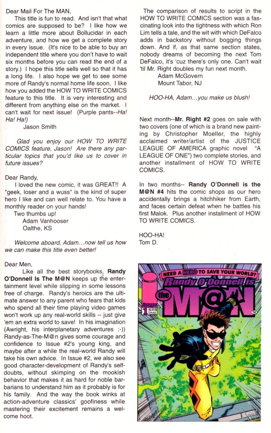 Read online Randy O'Donnell is The M@N comic -  Issue #3 - 30