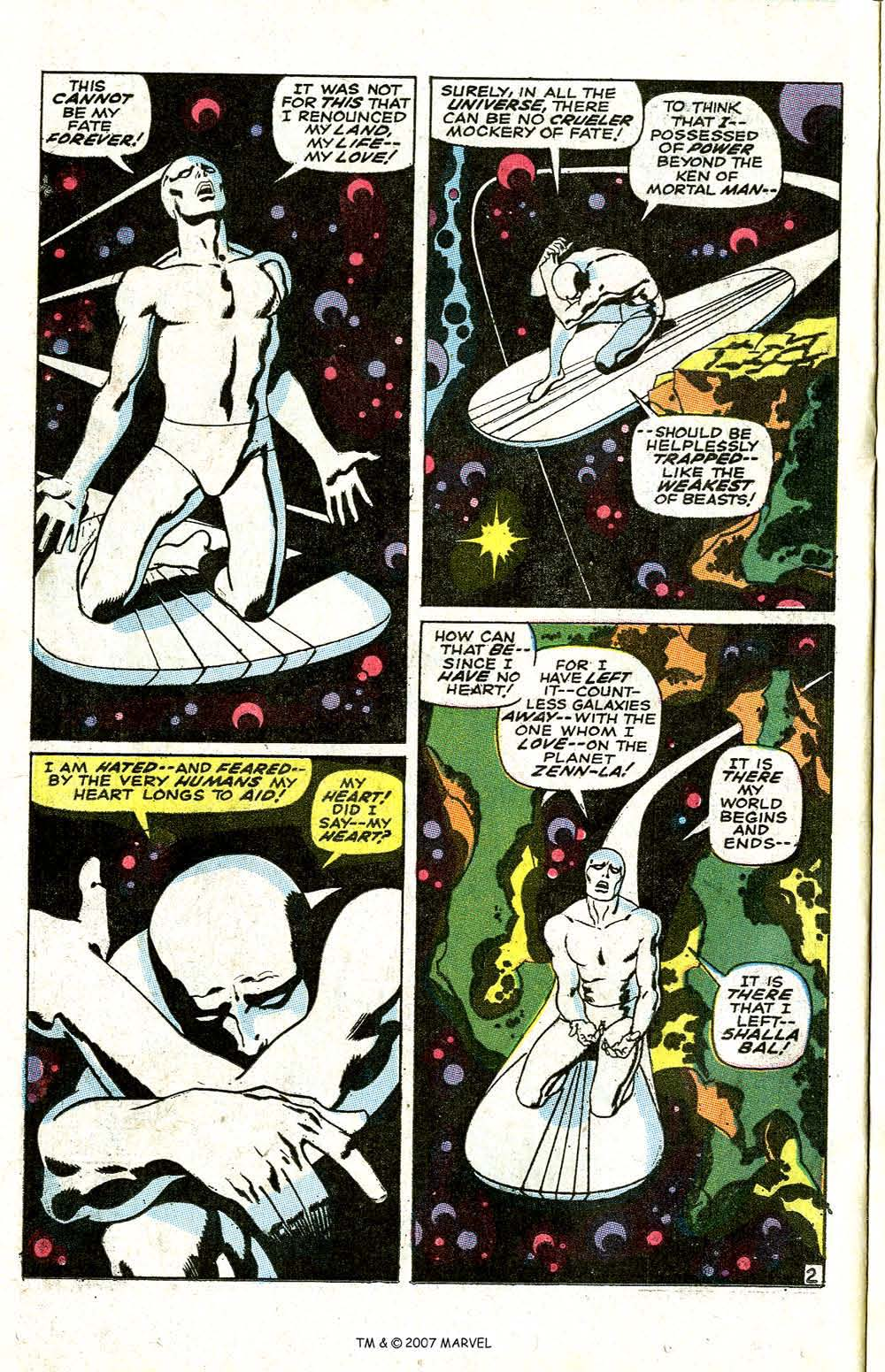 Read online Silver Surfer (1968) comic -  Issue #6 - 4