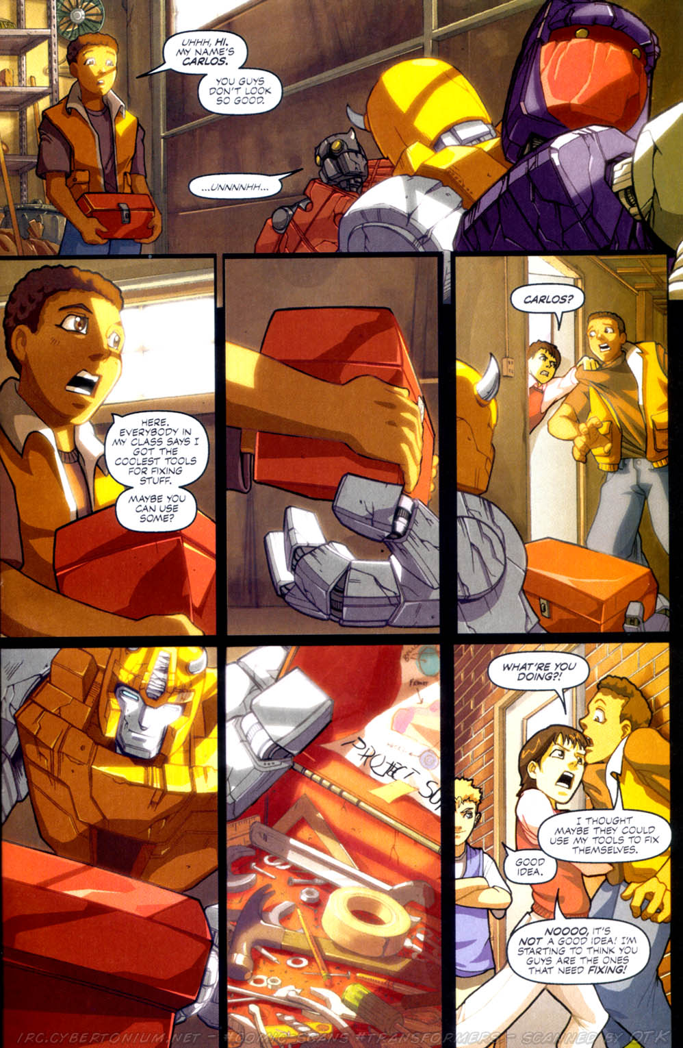 Read online Transformers Armada comic -  Issue #3 - 21