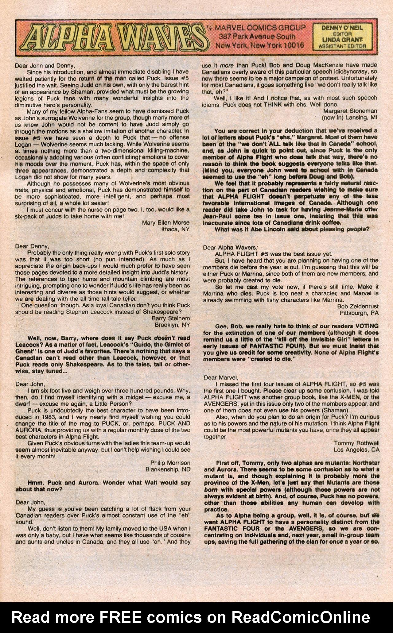 Read online Alpha Flight (1983) comic -  Issue #10 - 33