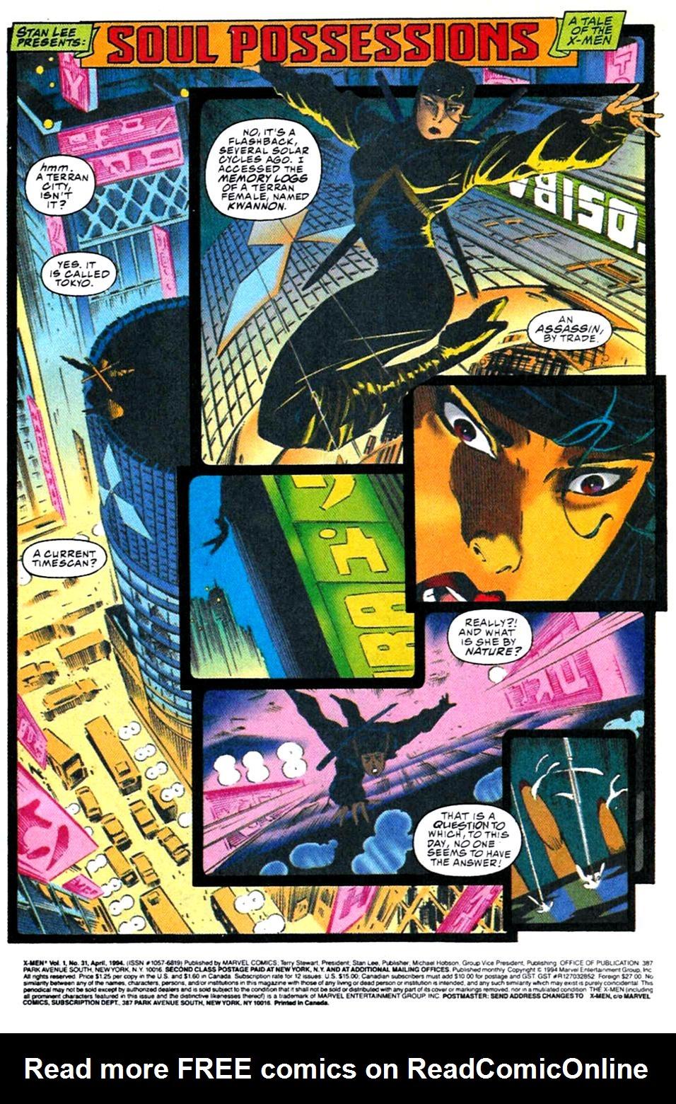 X-Men (1991) 31 Page 1