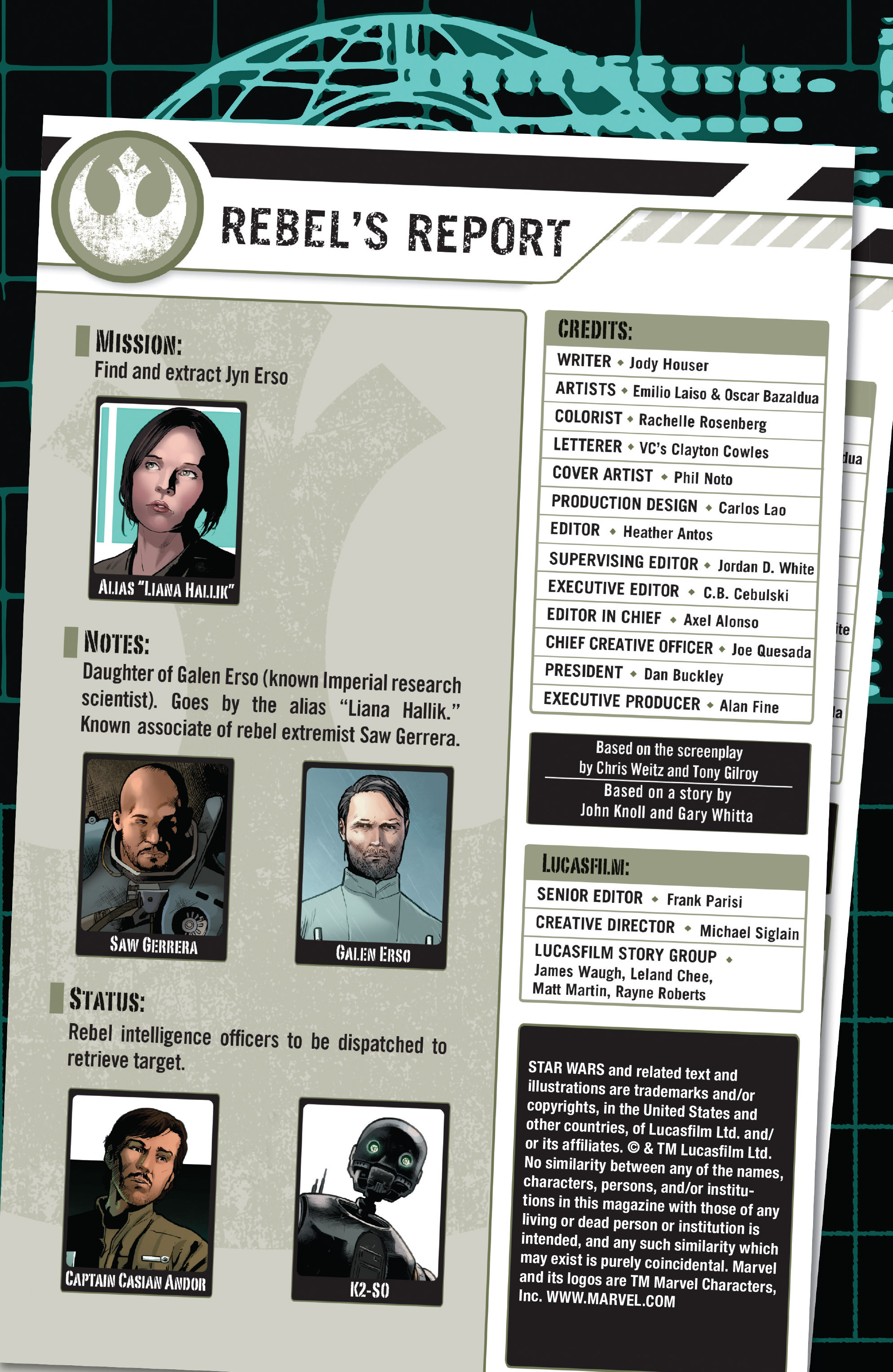 Read online Star Wars: Rogue One Adaptation comic -  Issue #1 - 2