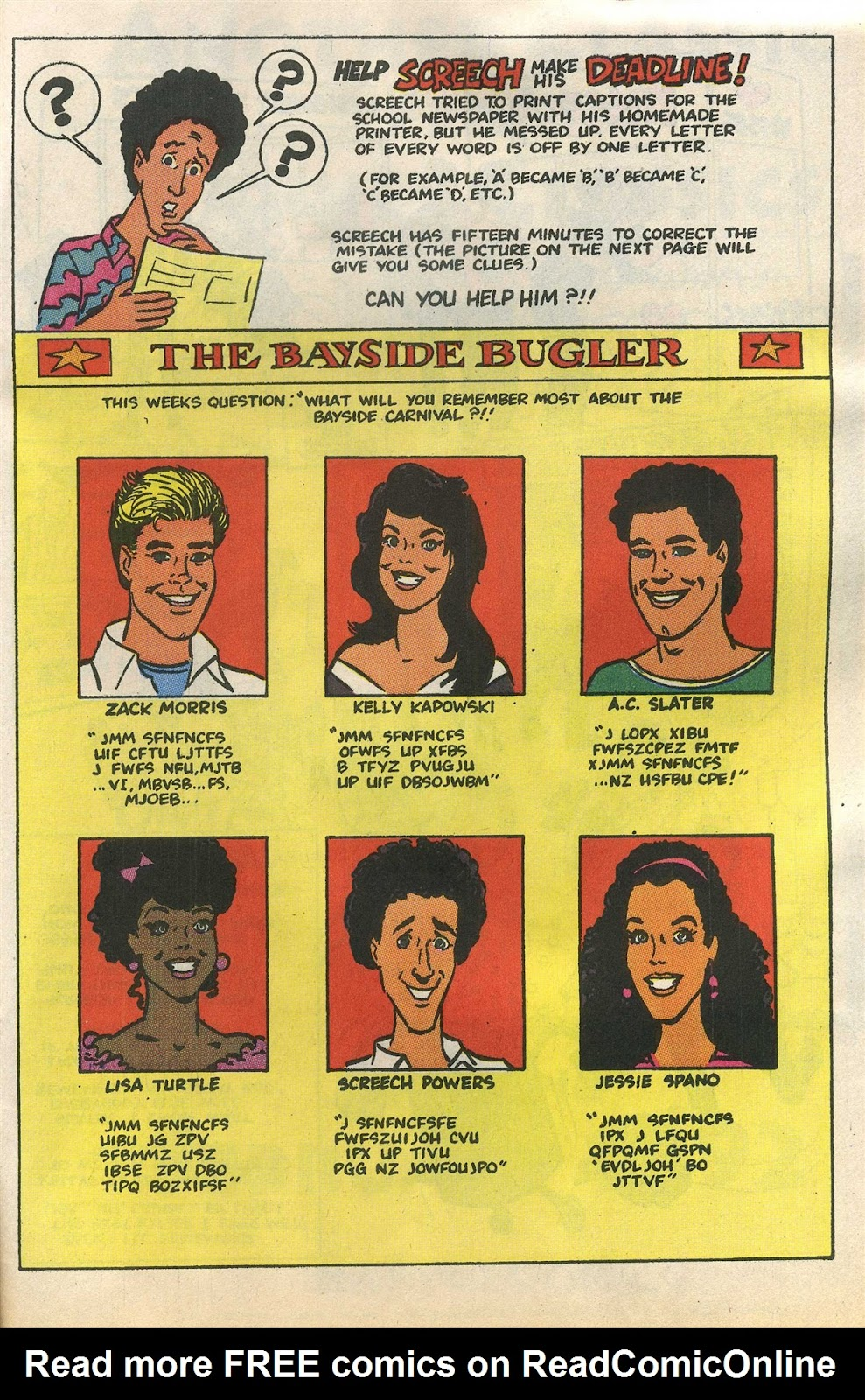Read online Saved By The Bell comic -  Issue #1 - 30