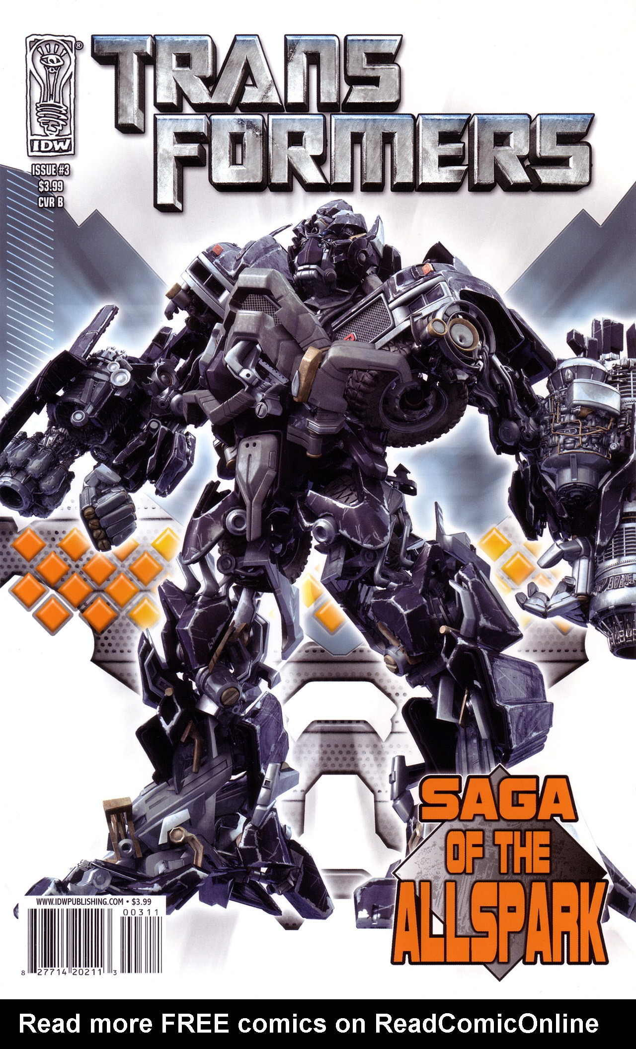Read online Transformers: Saga of the Allspark comic -  Issue #3 - 2