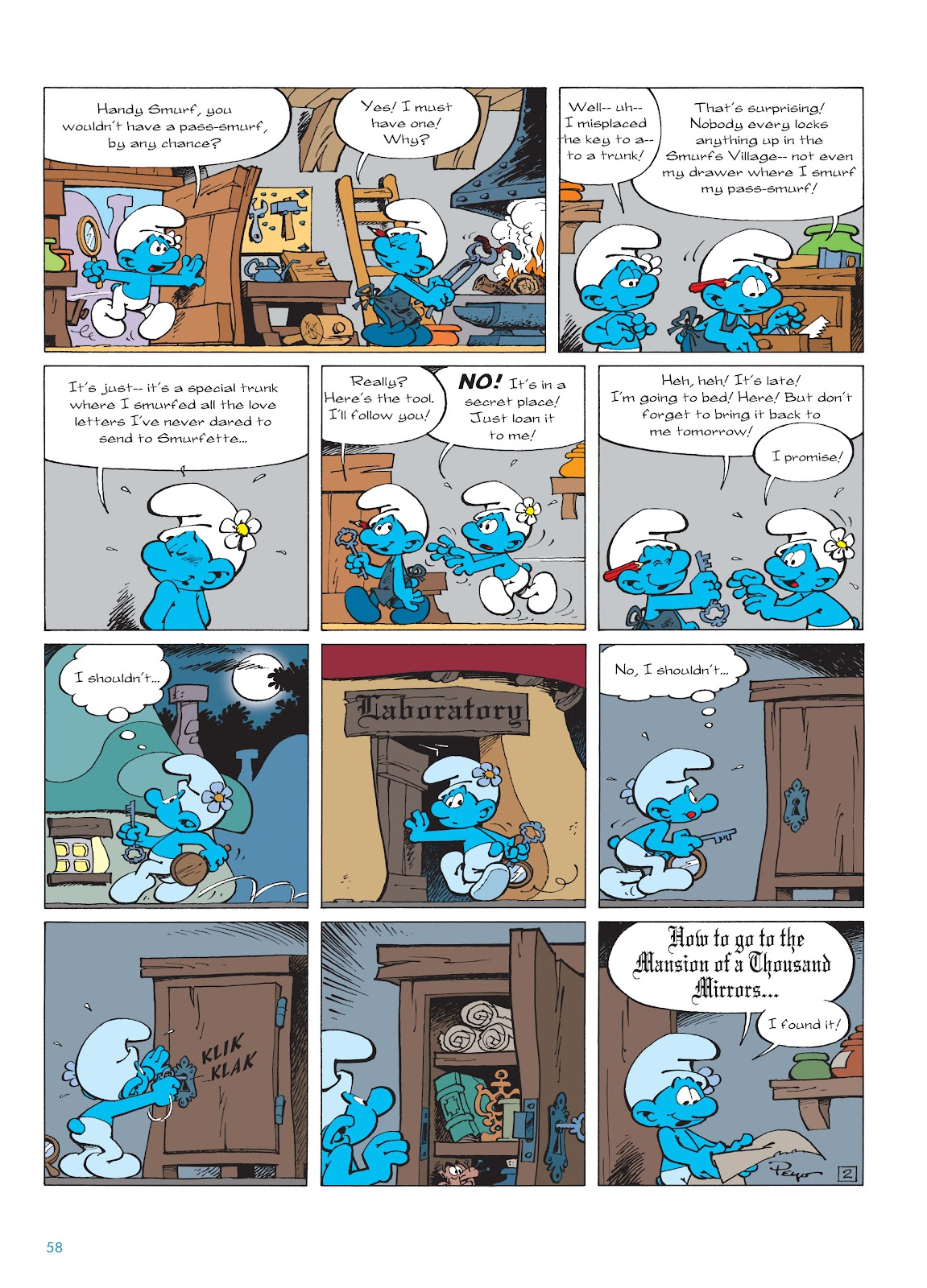 Read online The Smurfs comic -  Issue #22 - 59