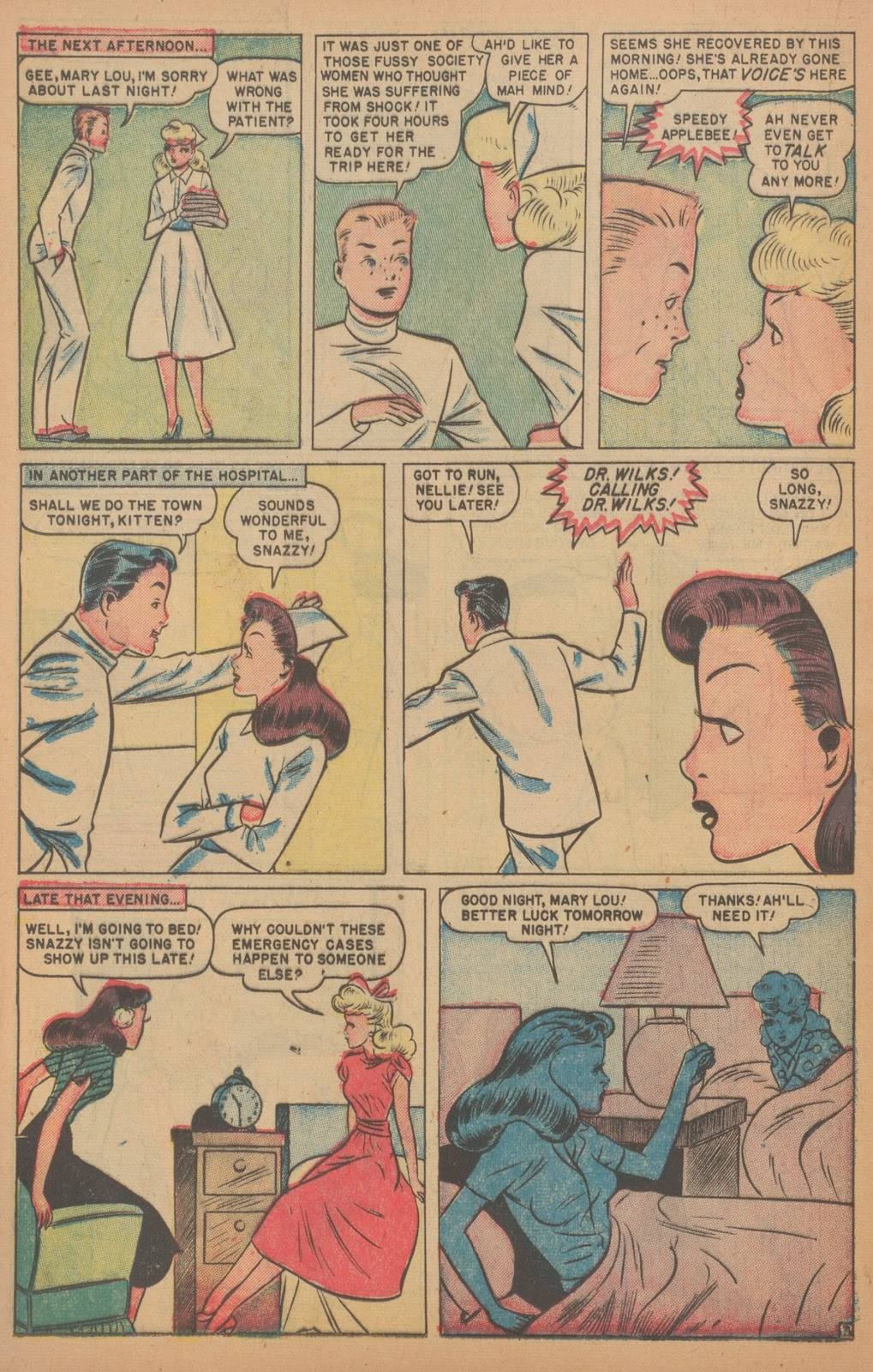 Read online Nellie The Nurse (1945) comic -  Issue #18 - 28
