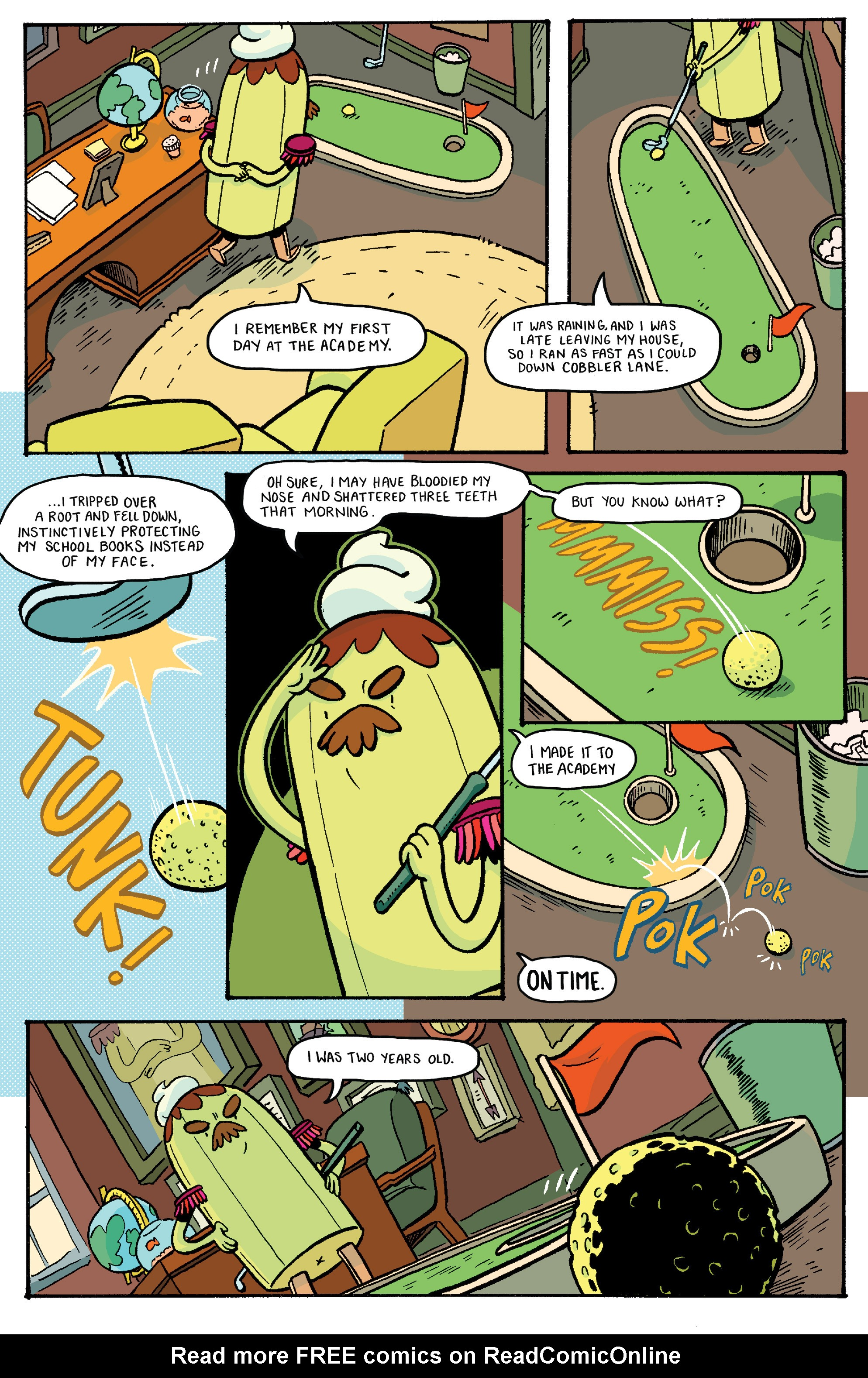 Read online Adventure Time: Banana Guard Academ comic -  Issue #2 - 4