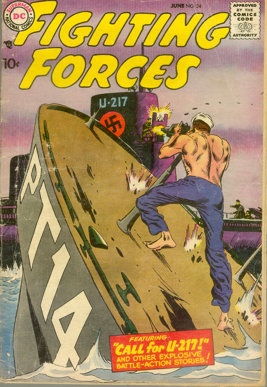 Our Fighting Forces (1954) issue 34 - Page 1