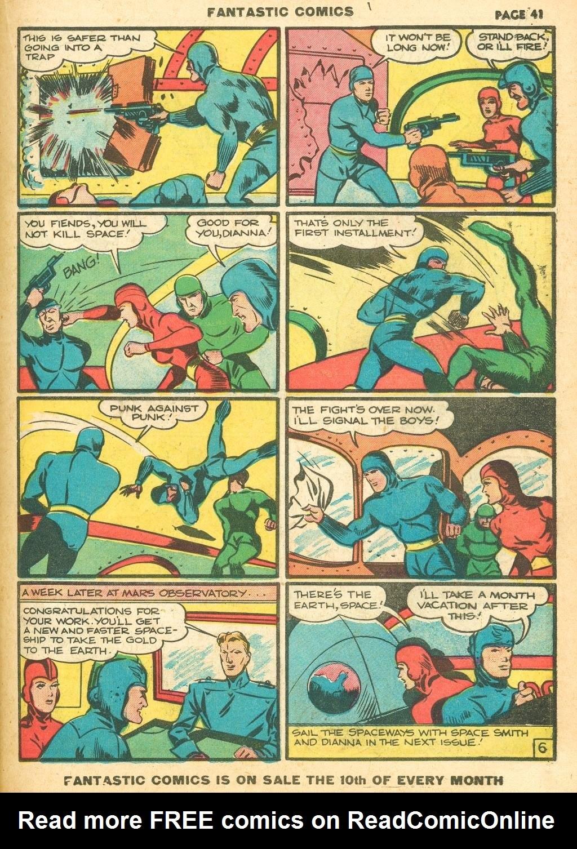 Read online Fantastic Comics comic -  Issue #12 - 43