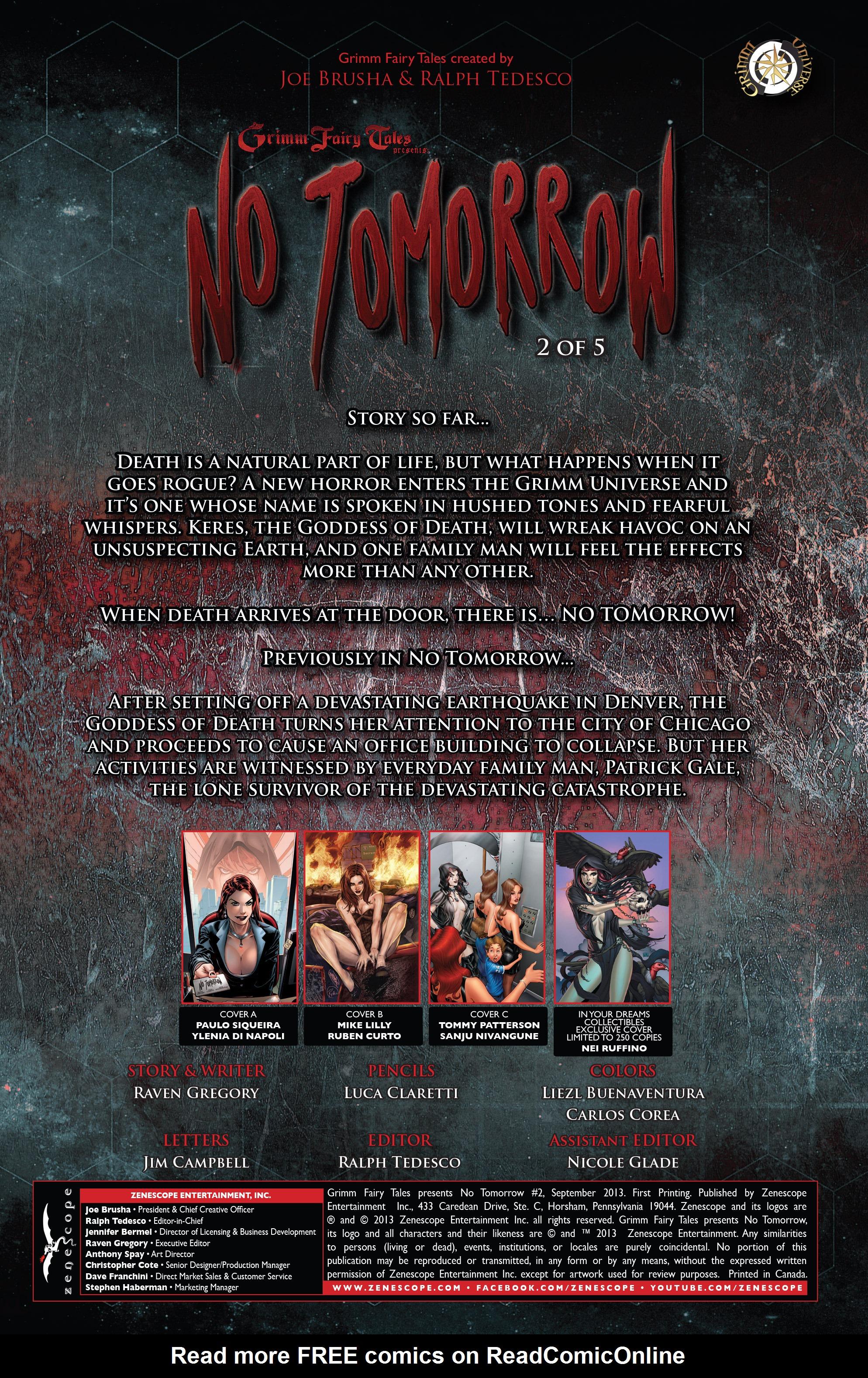 Read online Grimm Fairy Tales presents No Tomorrow comic -  Issue # TPB - 27