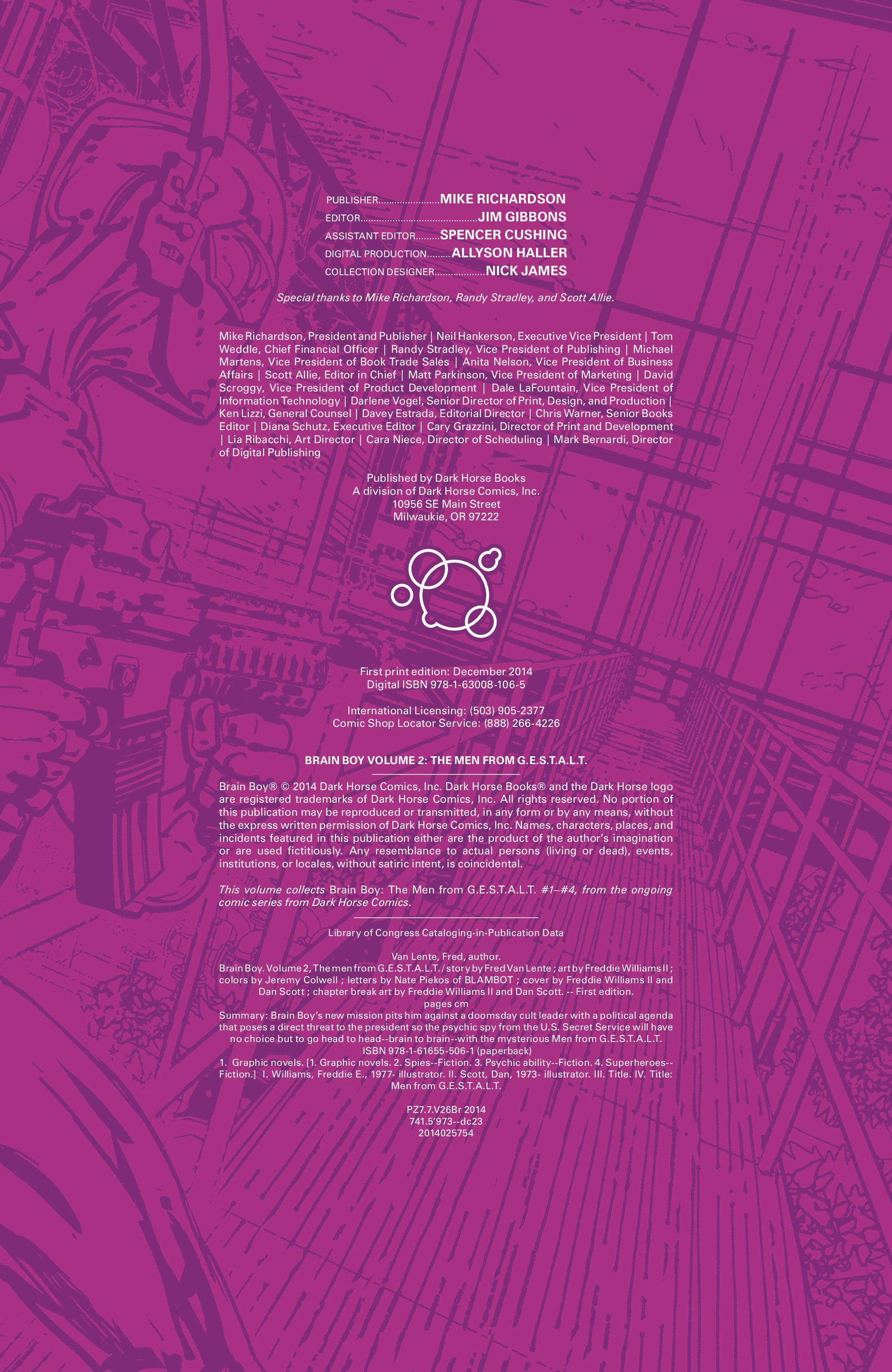 Read online Brain Boy:  The Men from G.E.S.T.A.L.T. comic -  Issue # TPB - 5