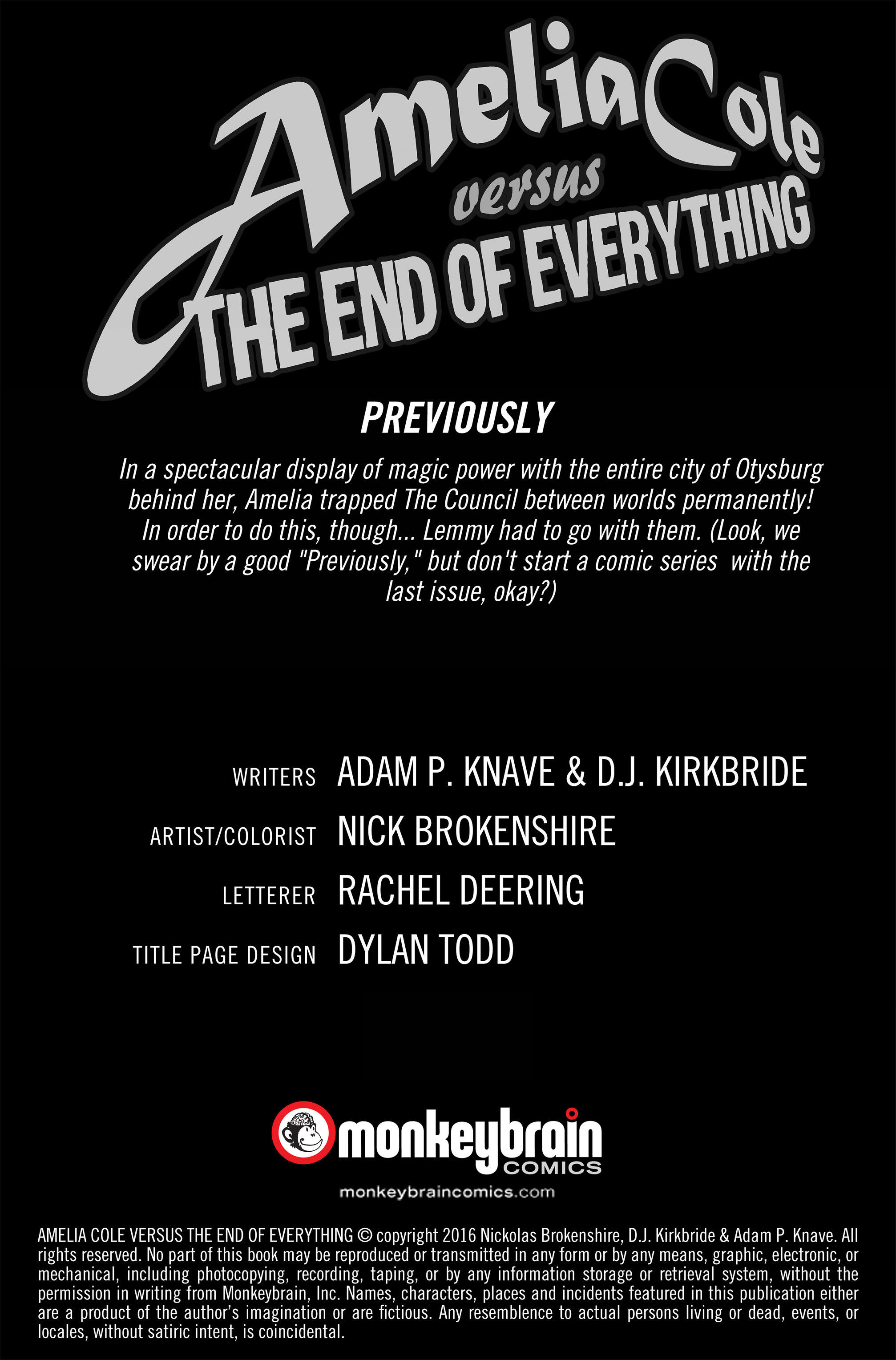 Read online Amelia Cole Versus The End of Everything comic -  Issue #30 - 2