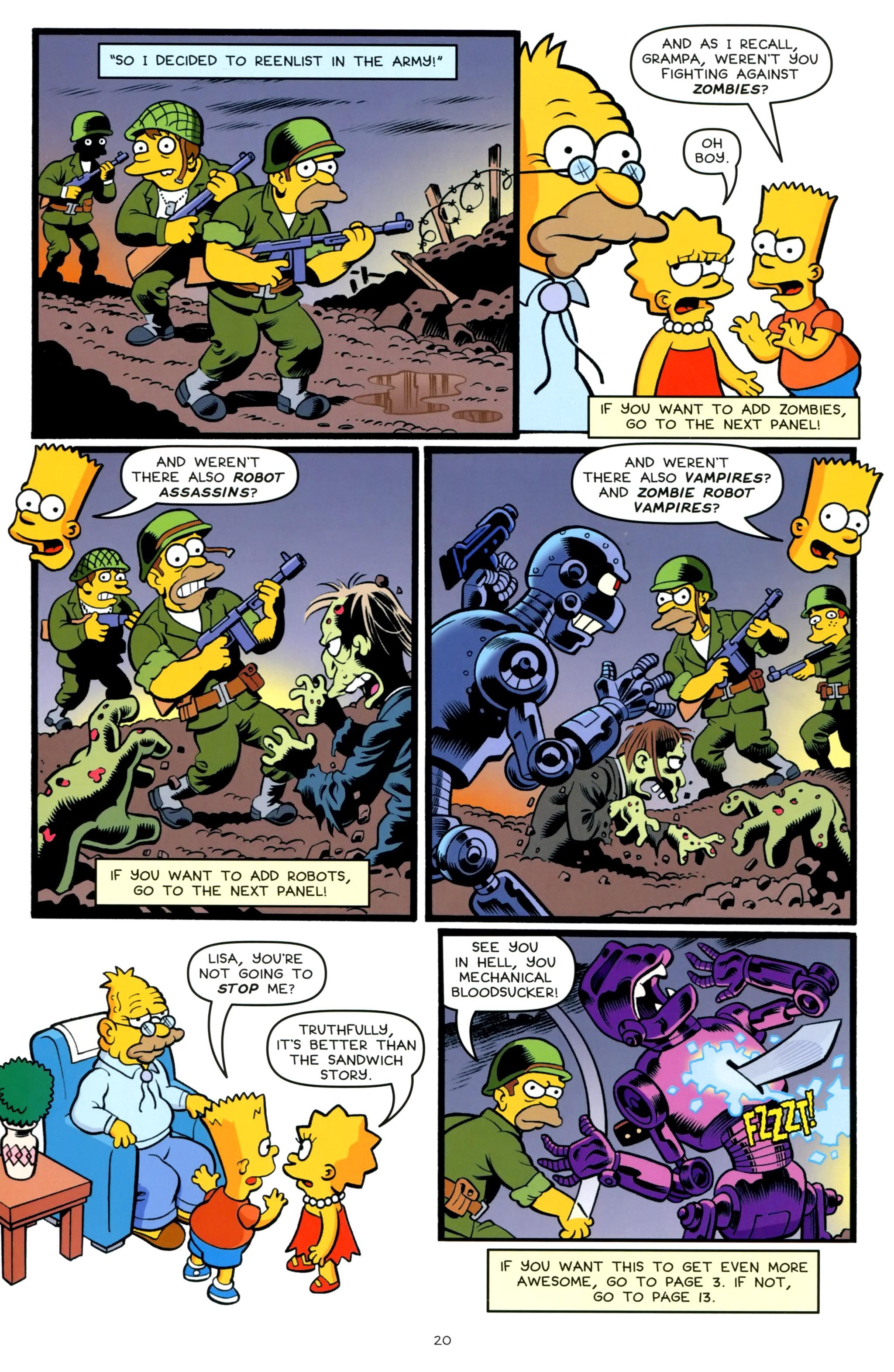 Read online Simpsons One-Shot Wonders: Grampa comic -  Issue # Full - 22