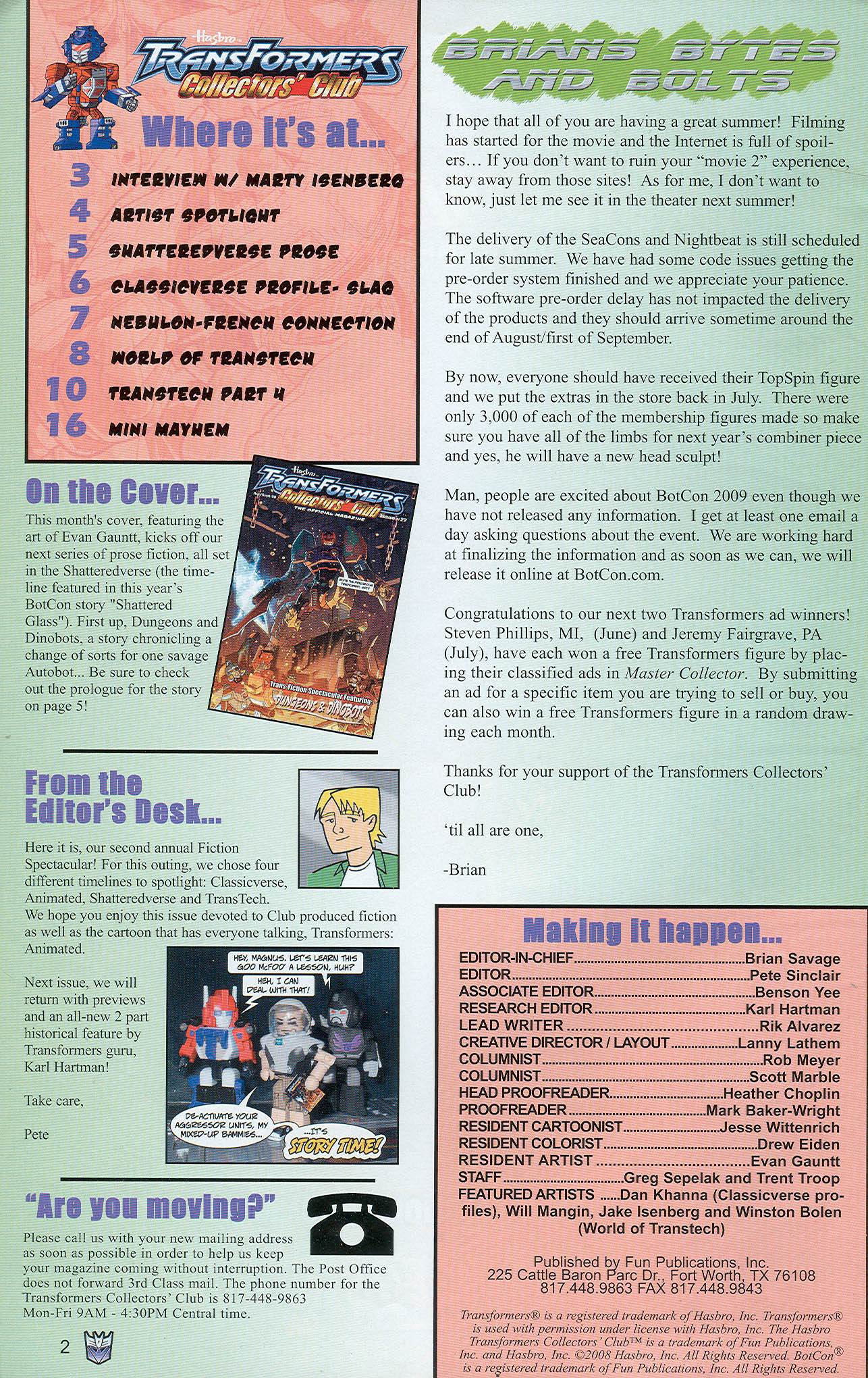 Read online Transformers: Collectors' Club comic -  Issue #22 - 2