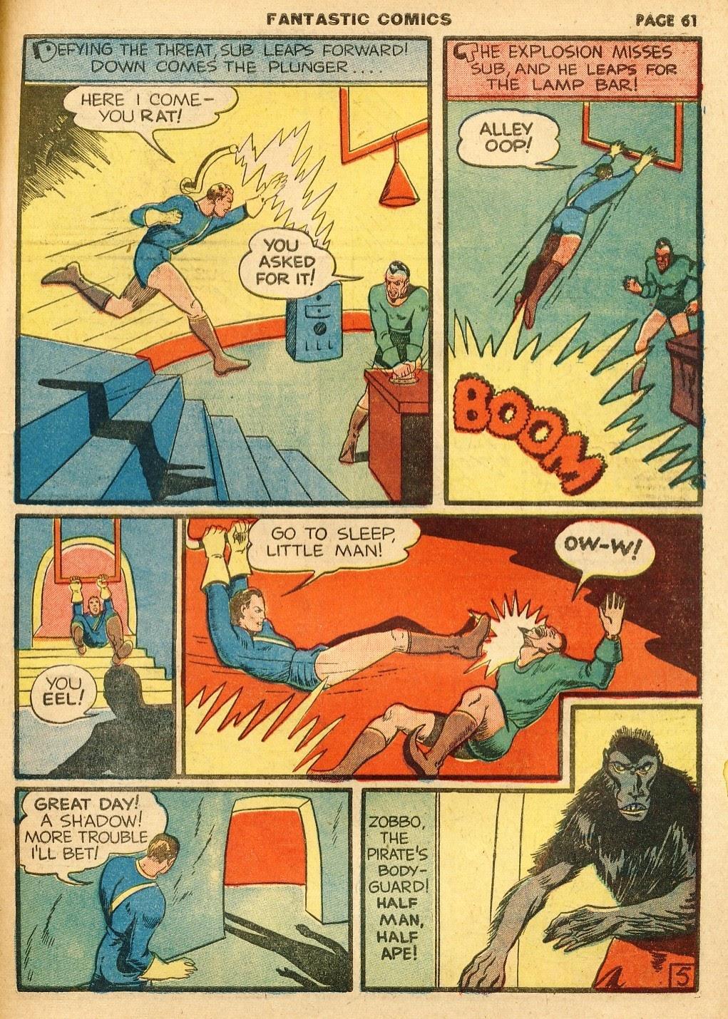 Read online Fantastic Comics comic -  Issue #10 - 62