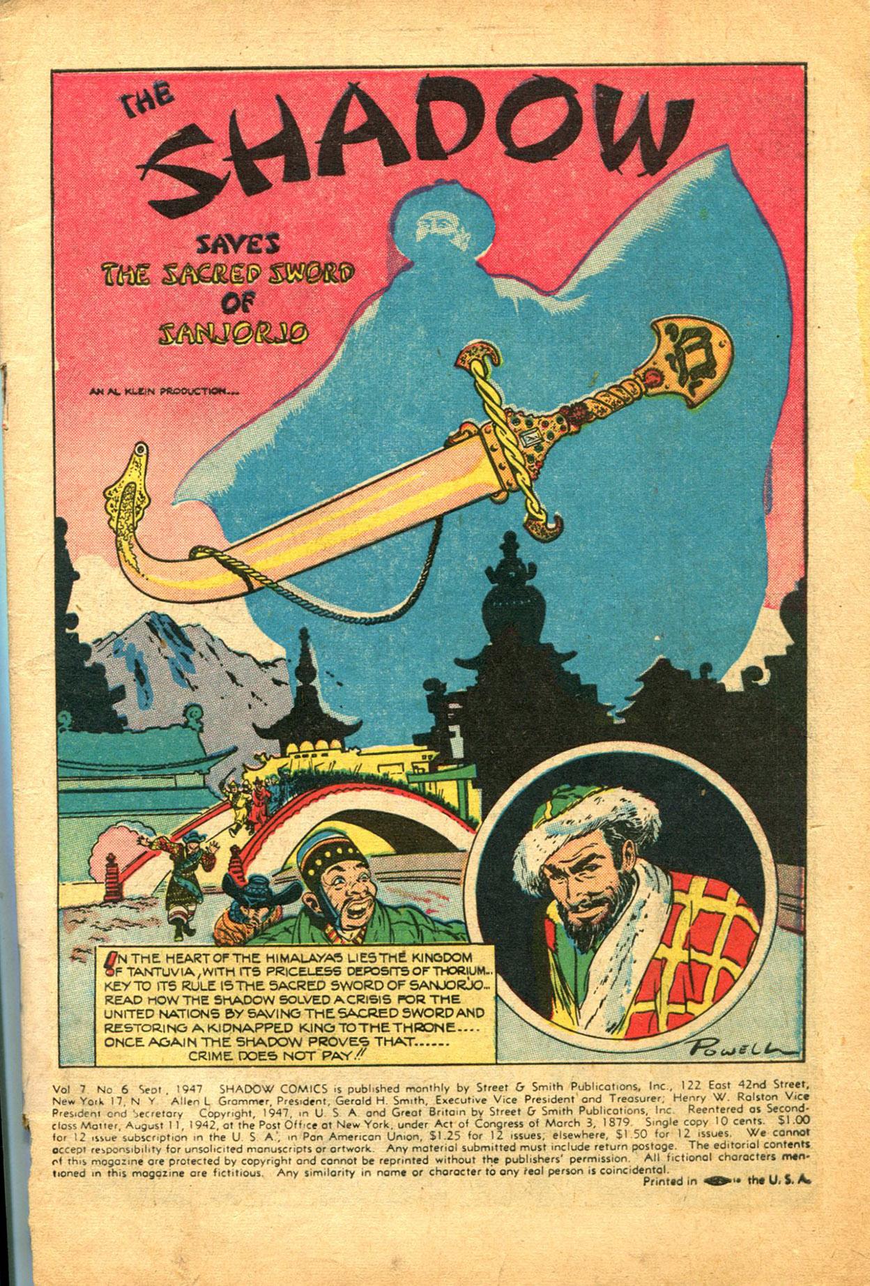 Read online Shadow Comics comic -  Issue #78 - 3
