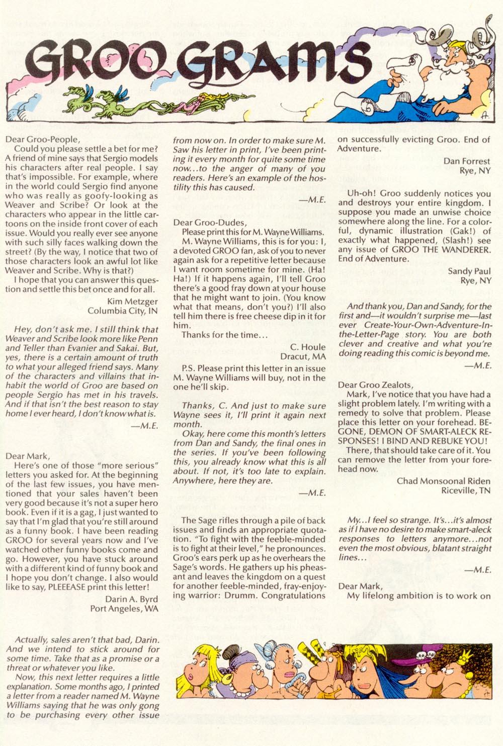 Read online Sergio Aragonés Groo the Wanderer comic -  Issue #97 - 30