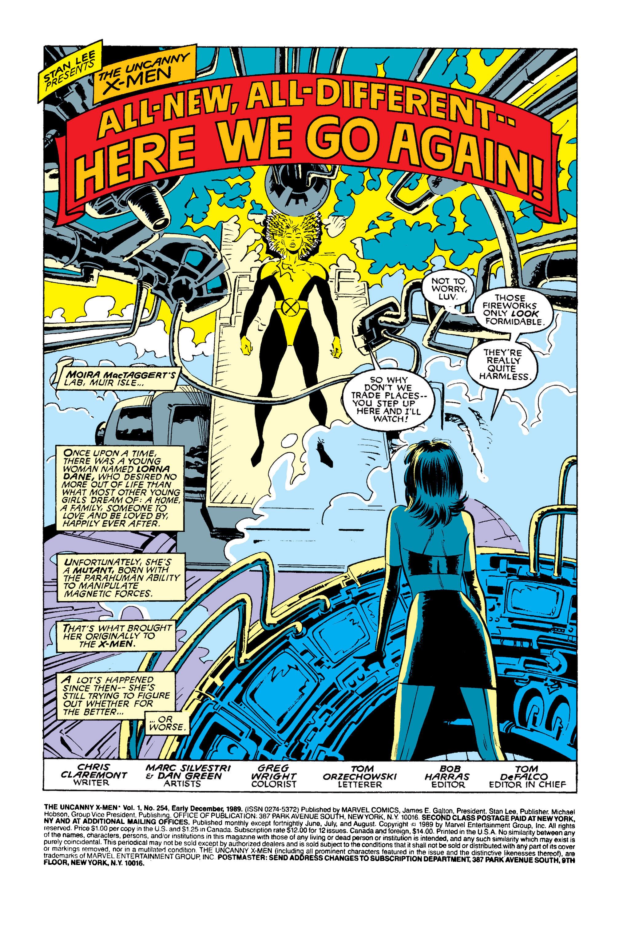 Read online Uncanny X-Men (1963) comic -  Issue #254 - 2