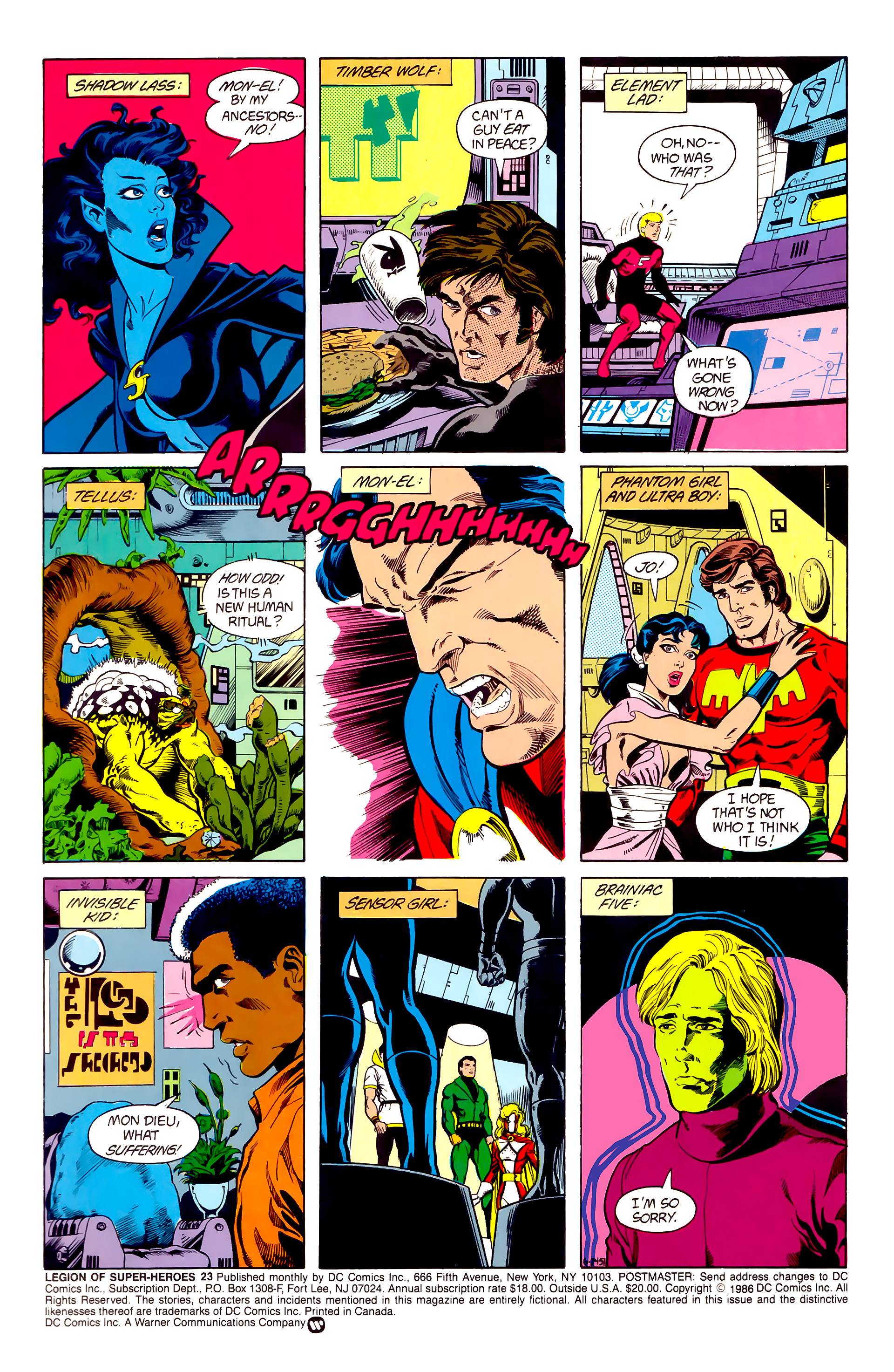 Legion of Super-Heroes (1984) 23 Page 2