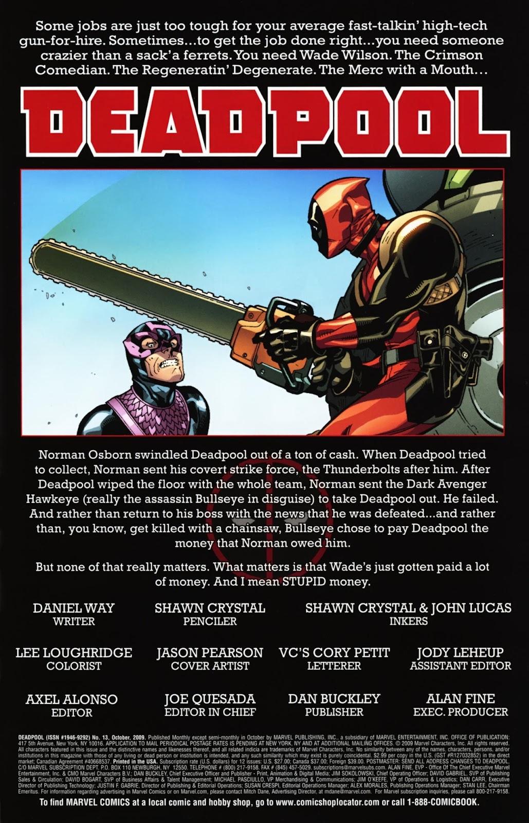 Read online Deadpool (2008) comic -  Issue #13 - 2