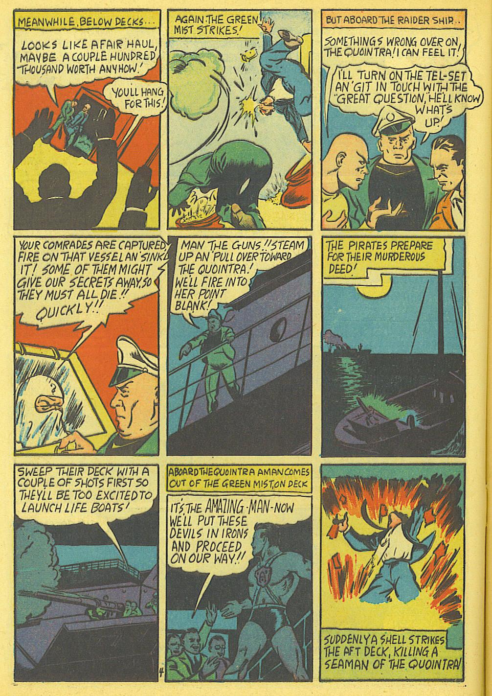 Read online Amazing Man Comics comic -  Issue #19 - 6