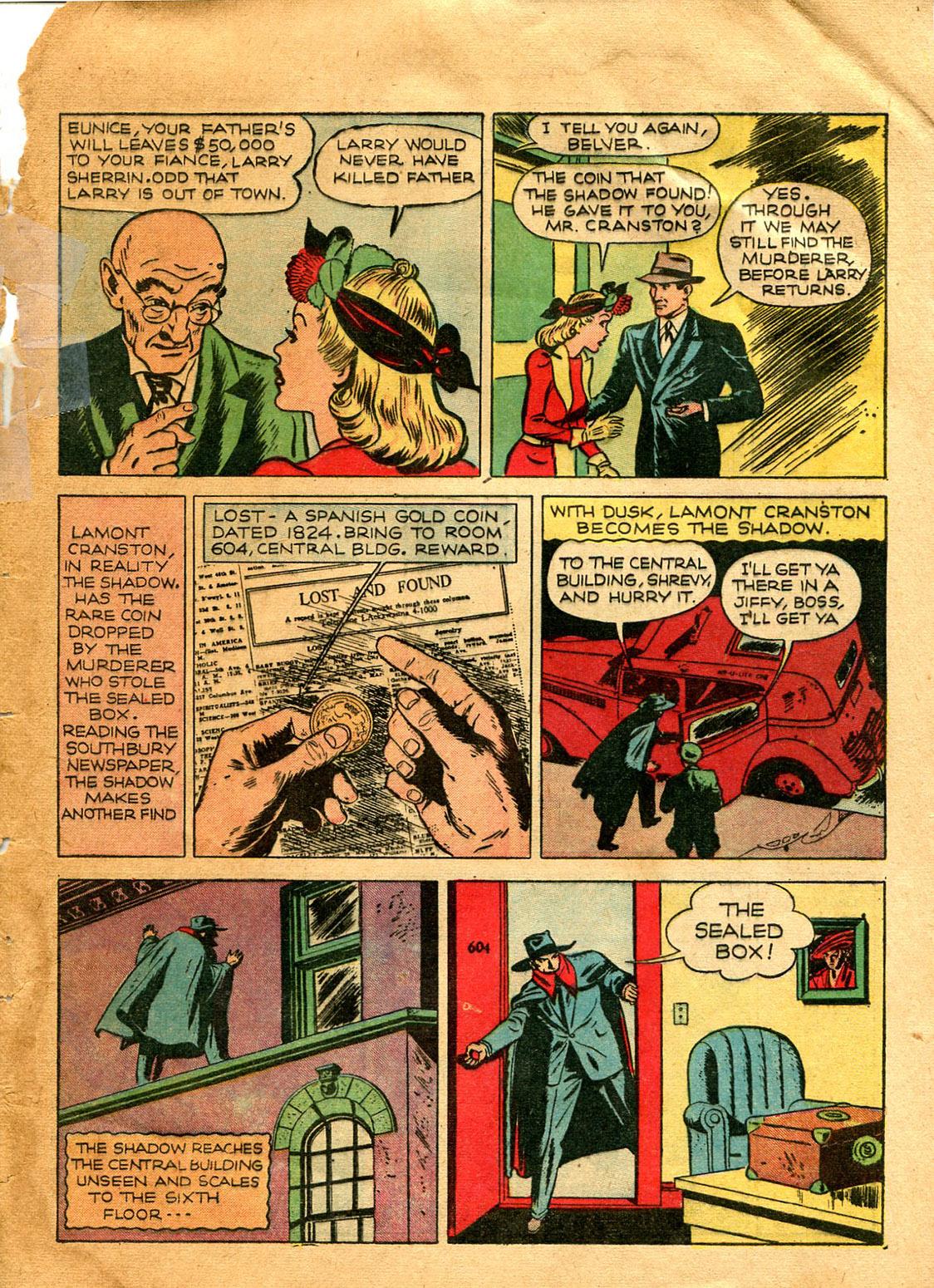 Read online Shadow Comics comic -  Issue #9 - 9