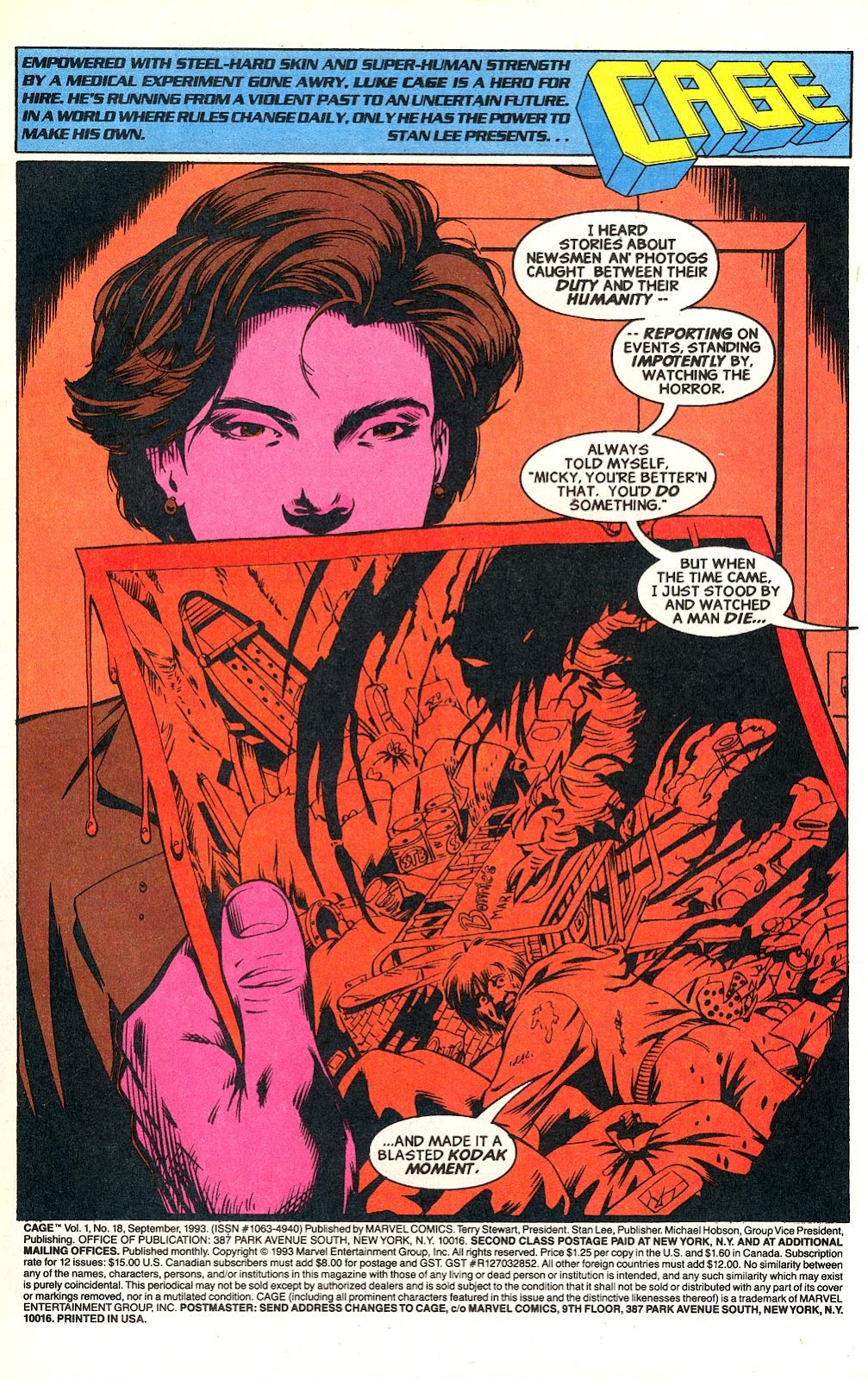 Cage (1992) issue 18 - Page 2