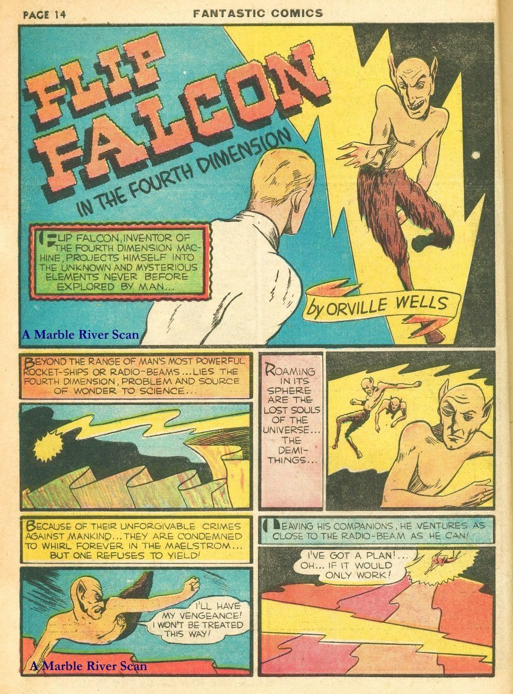 Read online Fantastic Comics comic -  Issue #12 - 16