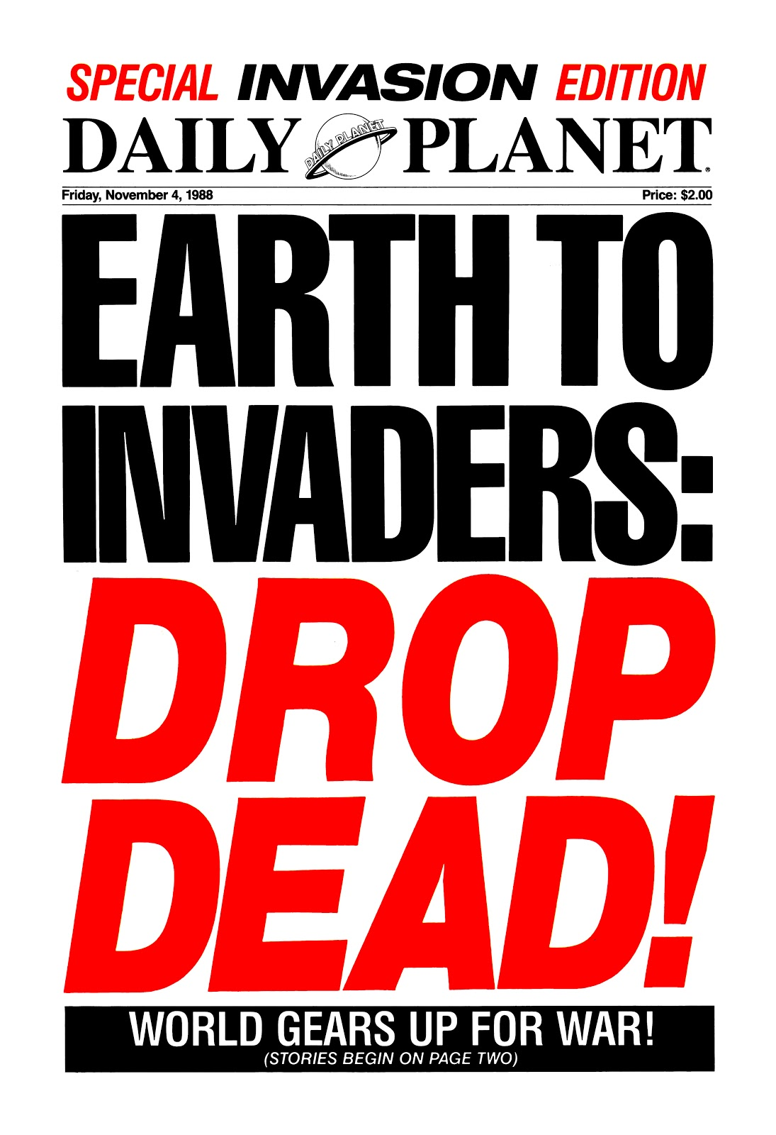 Invasion! Special: Daily Planet Full Page 2