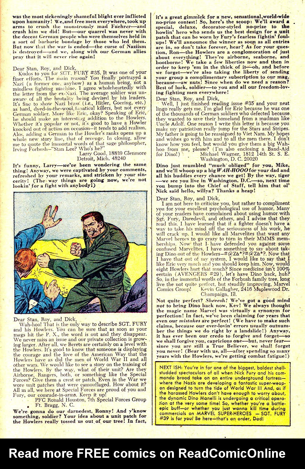 Read online Sgt. Fury comic -  Issue #38 - 33