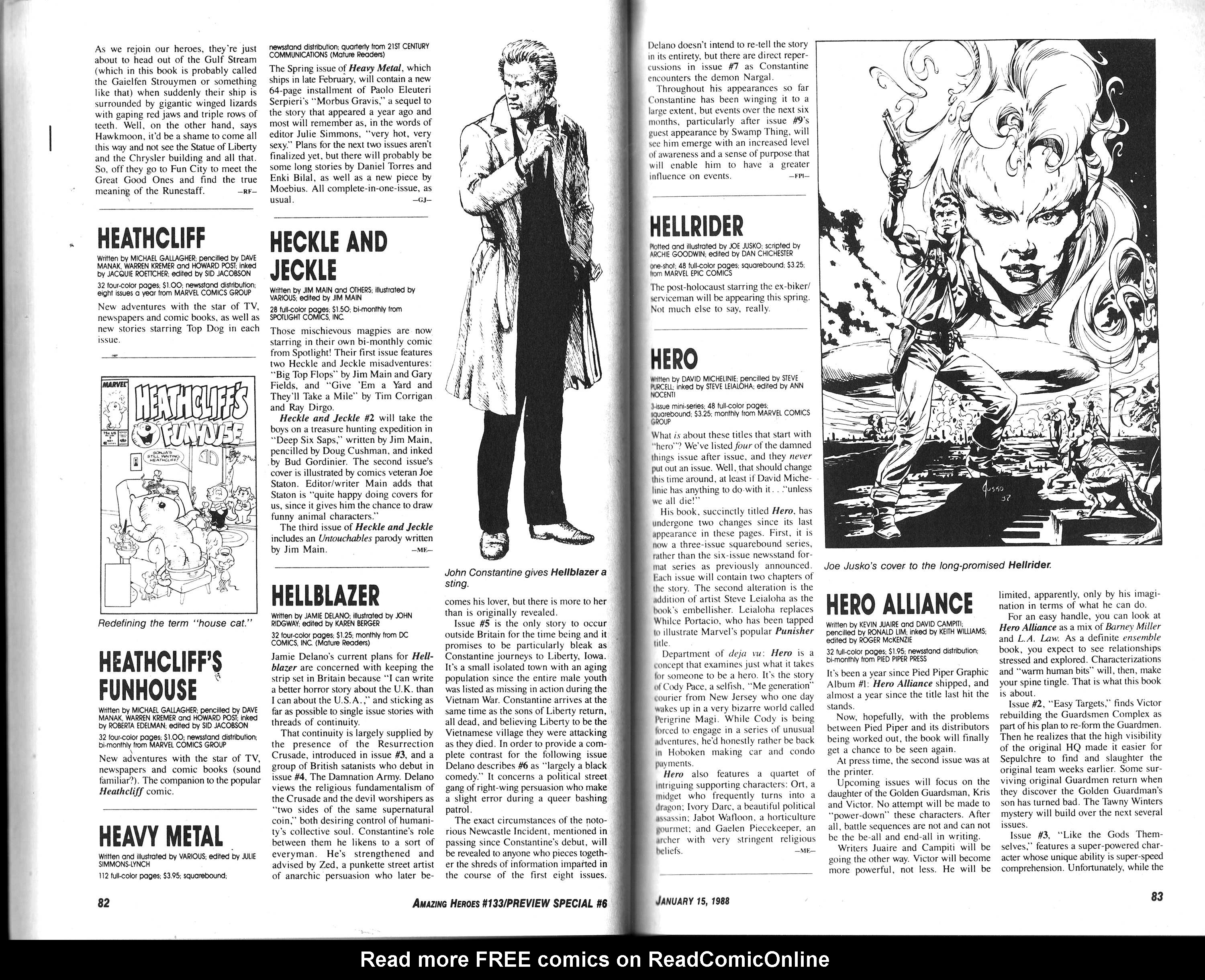 Read online Amazing Heroes comic -  Issue #133 - 43