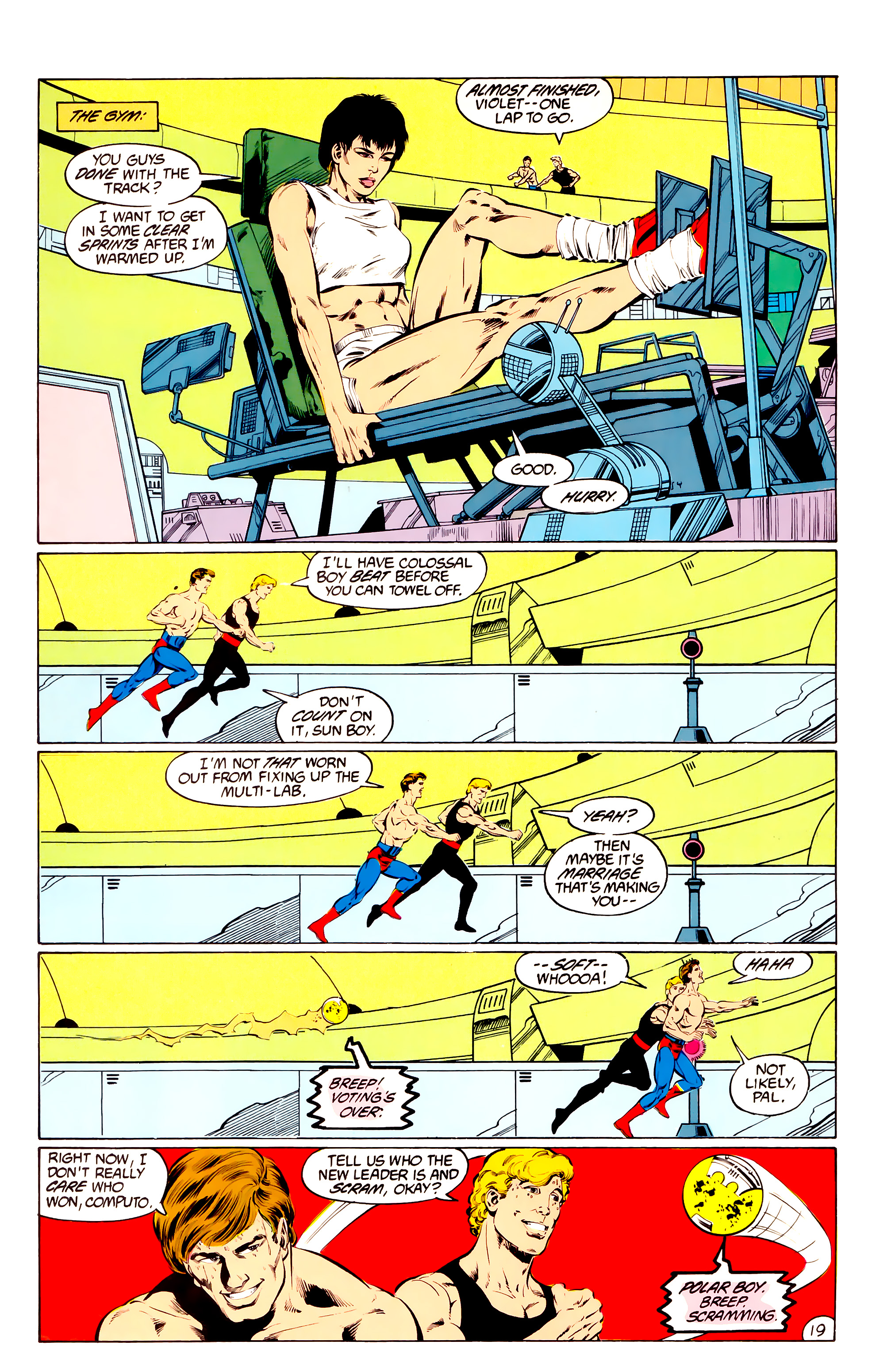 Legion of Super-Heroes (1984) 36 Page 19