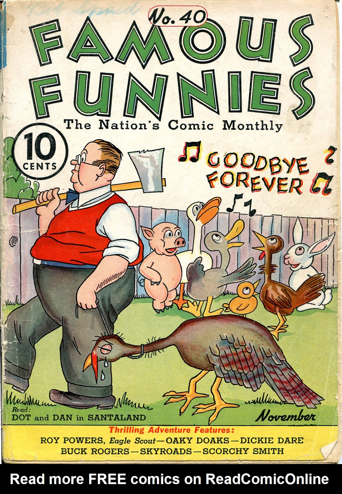 Read online Famous Funnies comic -  Issue #40 - 1