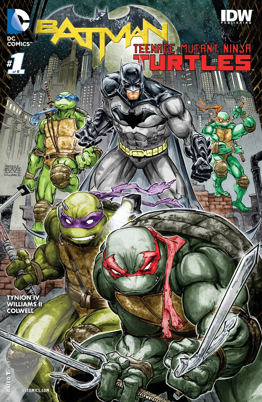 Batman/Teenage Mutant Ninja Turtles 1 Page 1