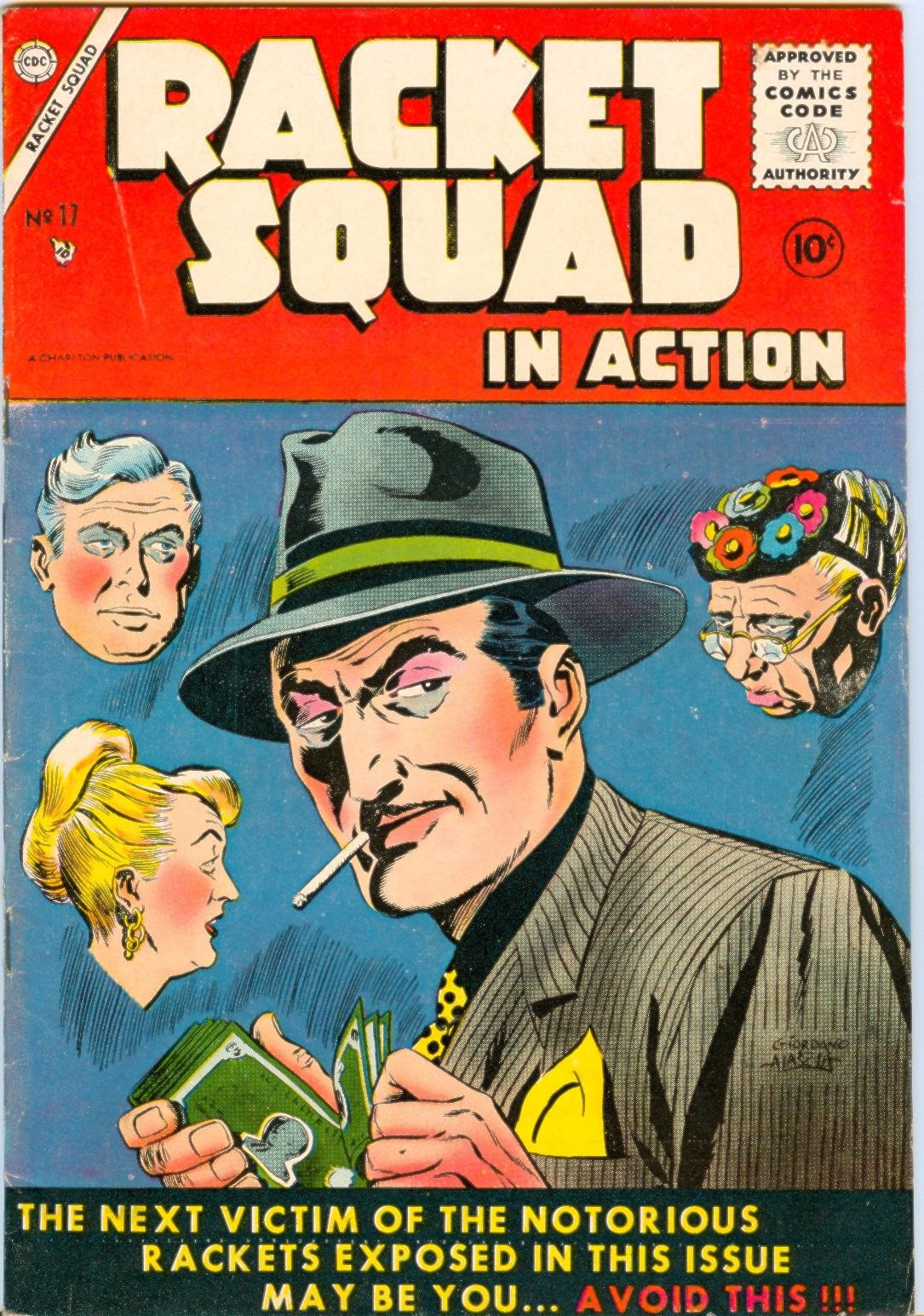 Read online Racket Squad in Action comic -  Issue #17 - 1