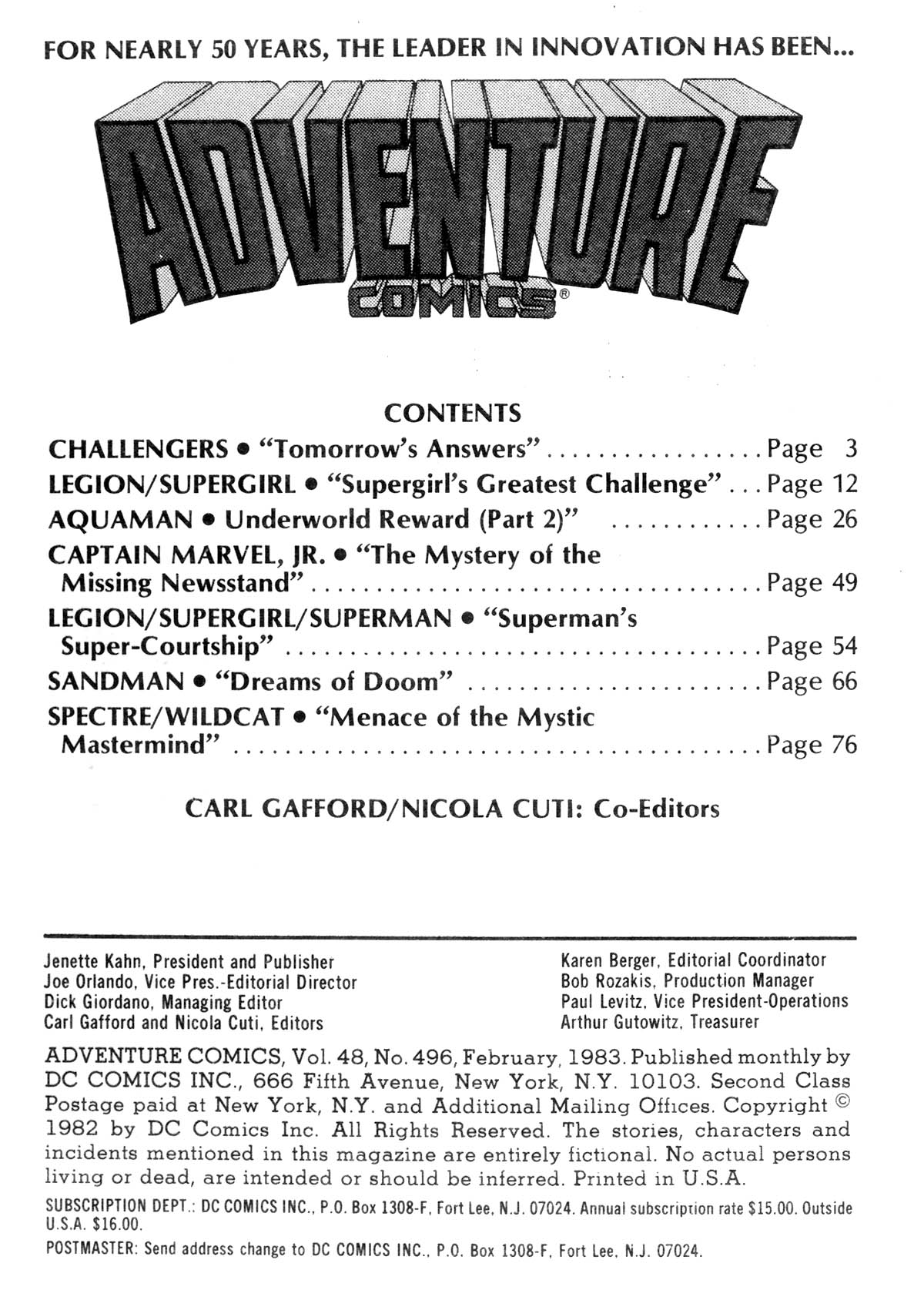 Read online Adventure Comics (1938) comic -  Issue #496 - 2