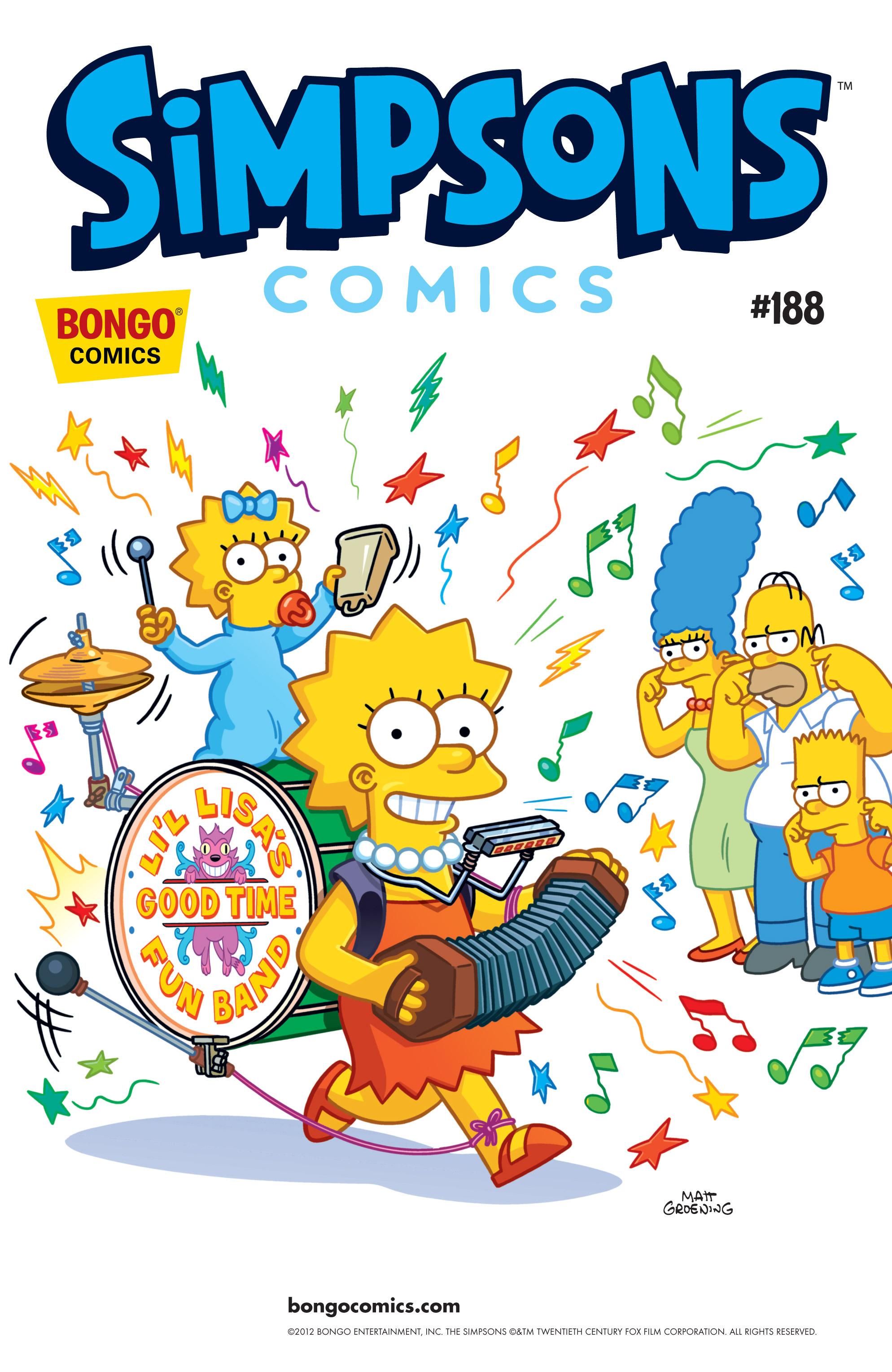 Read online Simpsons Comics comic -  Issue #188 - 1